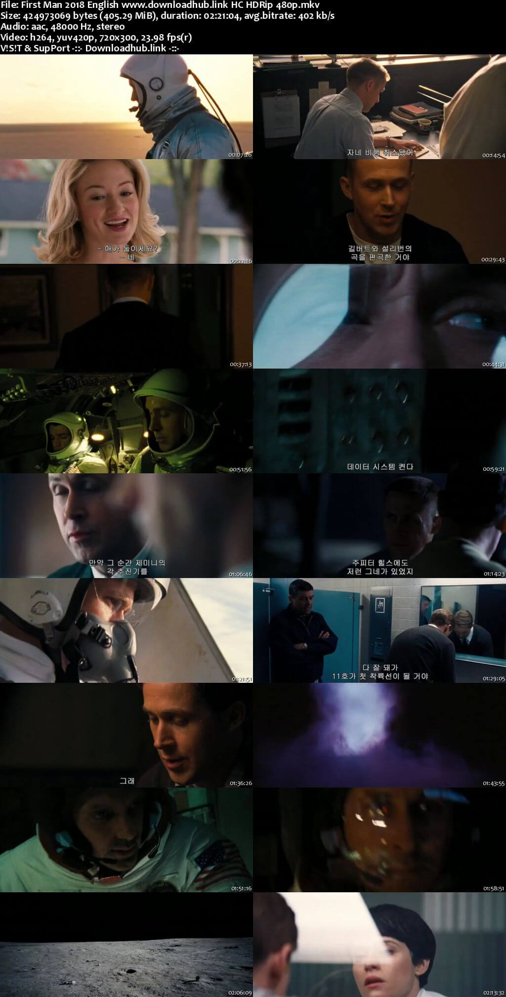 First Man 2018 English 400MB HC HDRip 480p