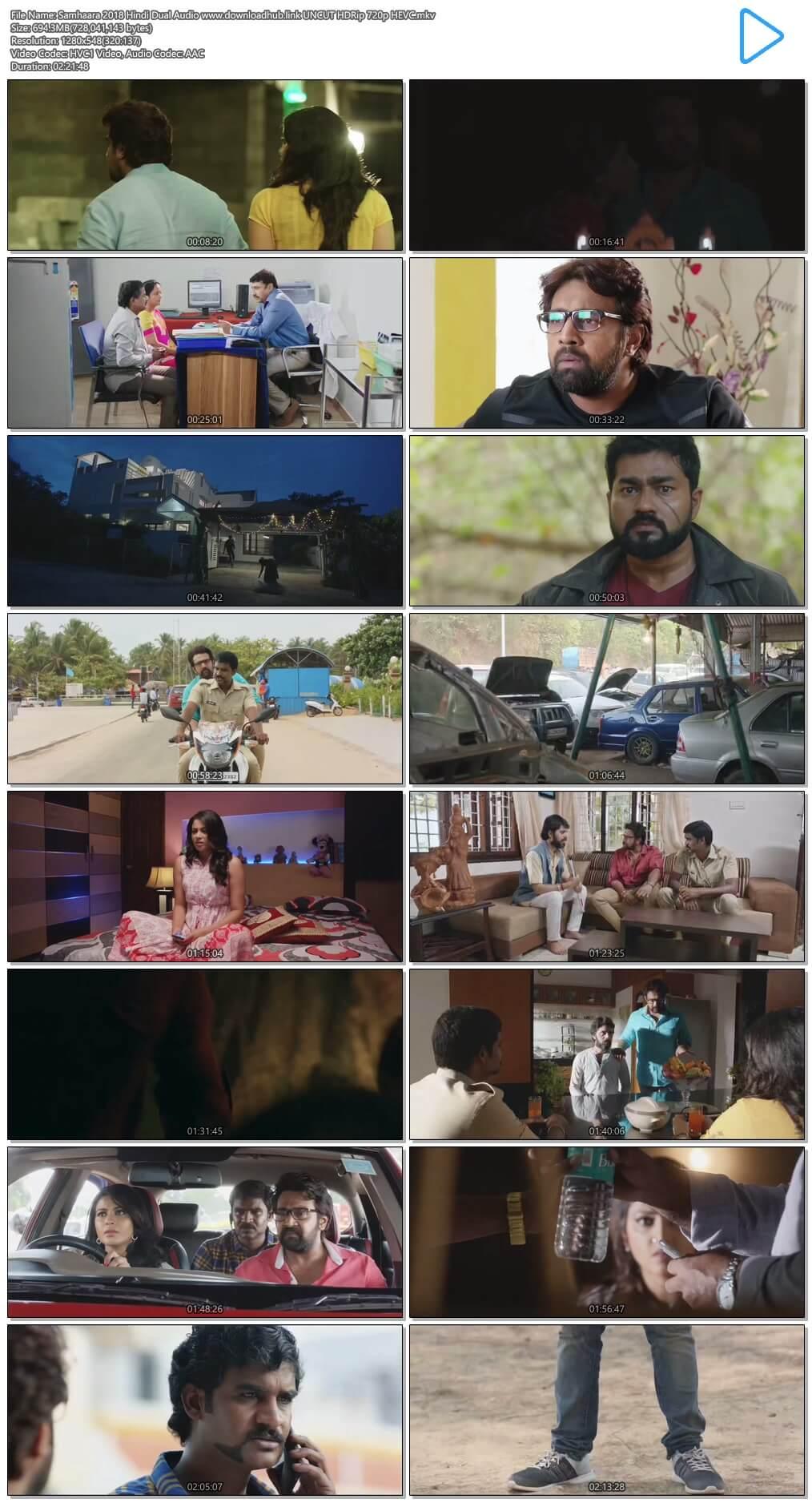 Samhaara 2018 Hindi Dual Audio 700MB UNCUT HDRip 720p HEVC