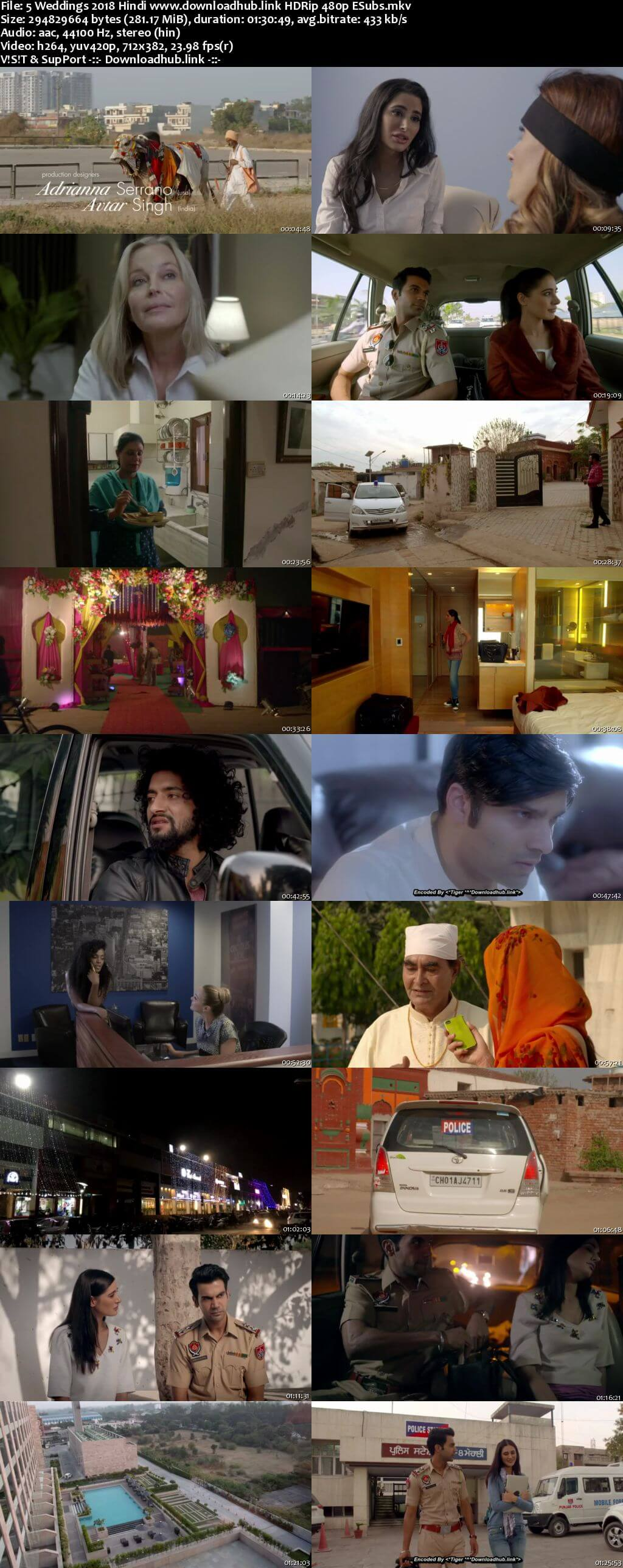 5 Weddings 2018 Hindi 280MB HDRip 480p ESubs