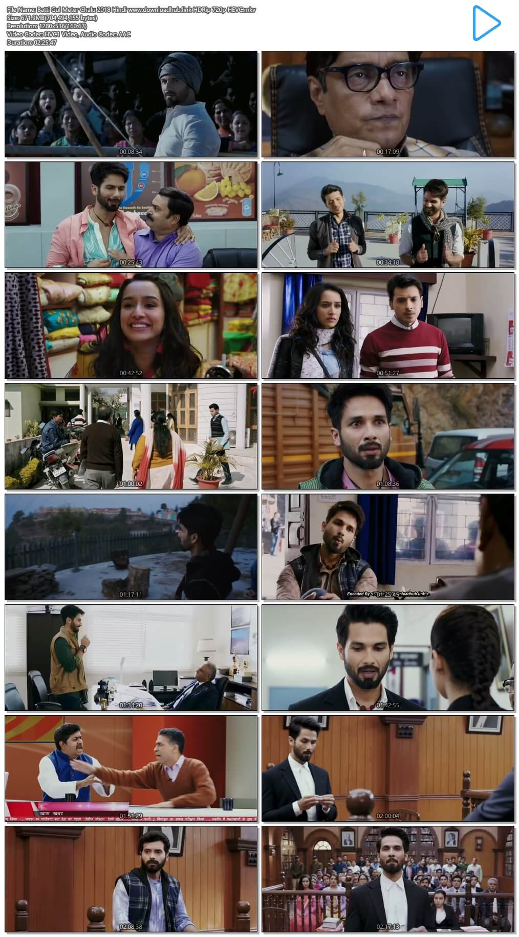 Batti Gul Meter Chalu 2018 Hindi 650MB HDRip 720p HEVC