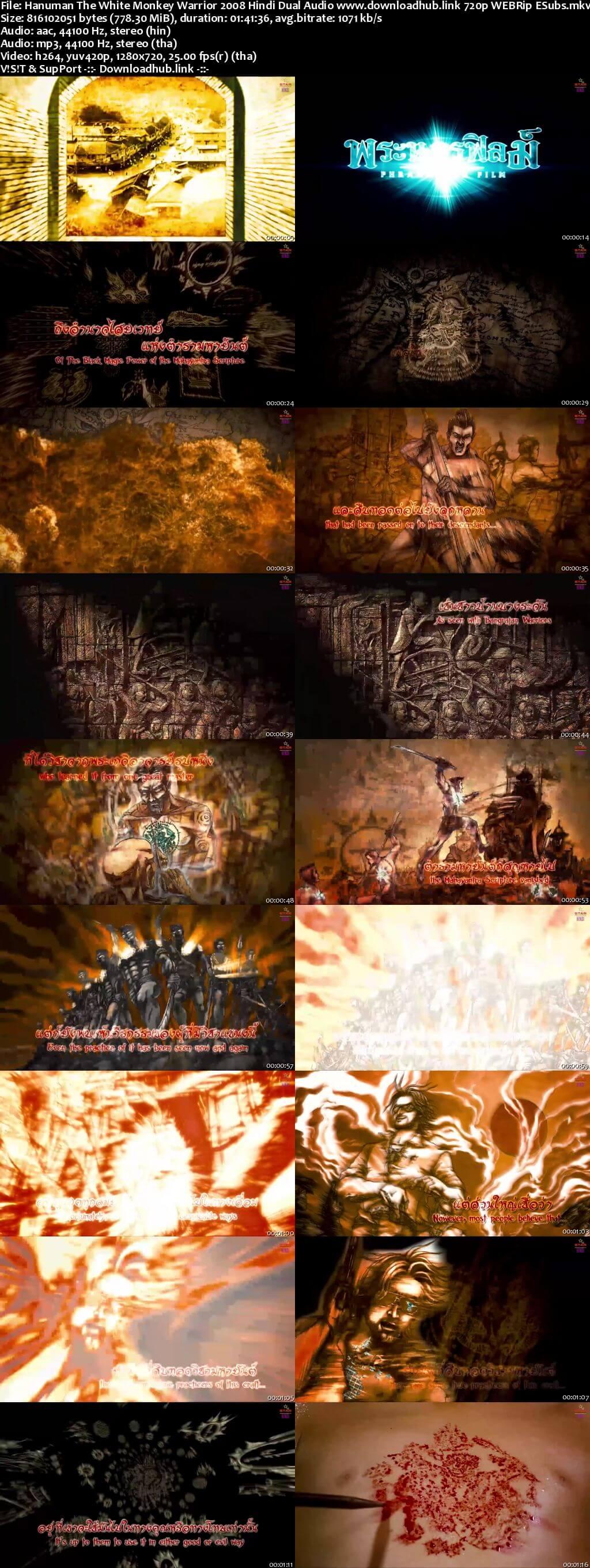 Hanuman The White Monkey Warrior 2008 Hindi Dual Audio 720p WEBRip ESubs