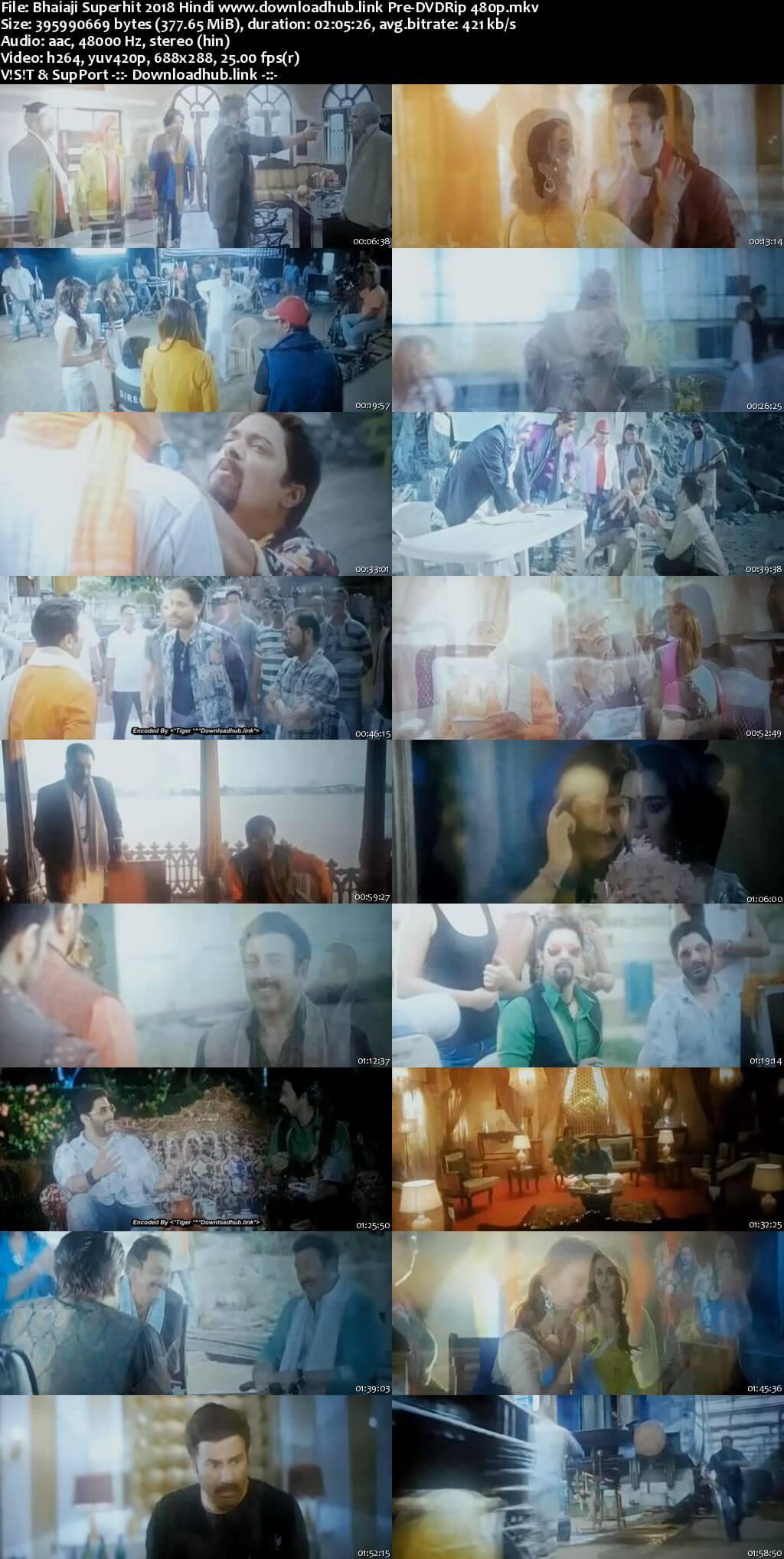 Bhaiaji Superhit 2018 Hindi 350MB Pre-DVDRip 480p