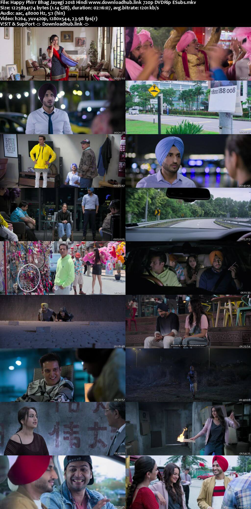 Happy Phirr Bhag Jayegi 2018 Hindi 720p DVDRip ESubs