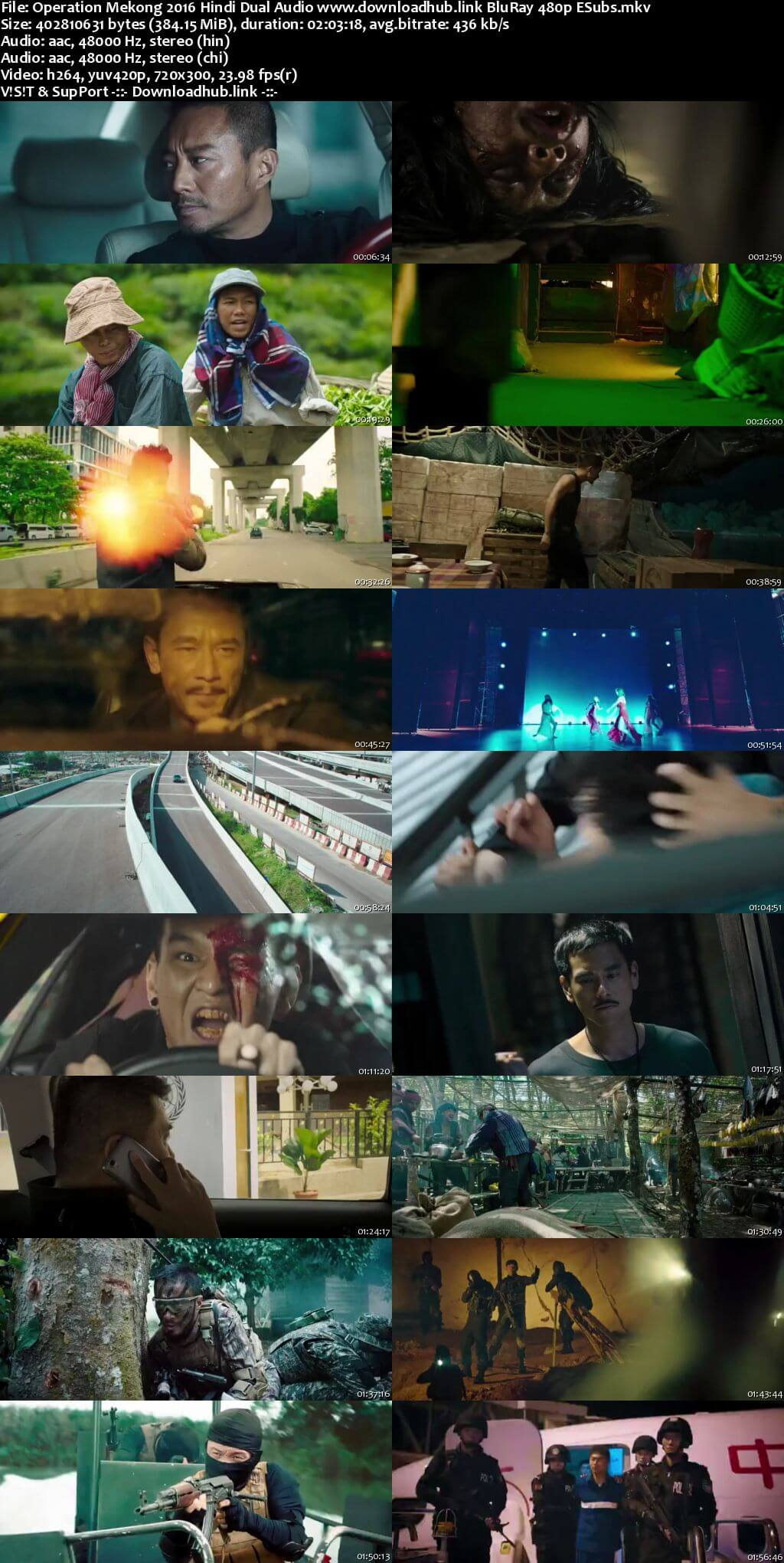 Operation Mekong 2016 Hindi Dual Audio 350MB BluRay 480p ESubs