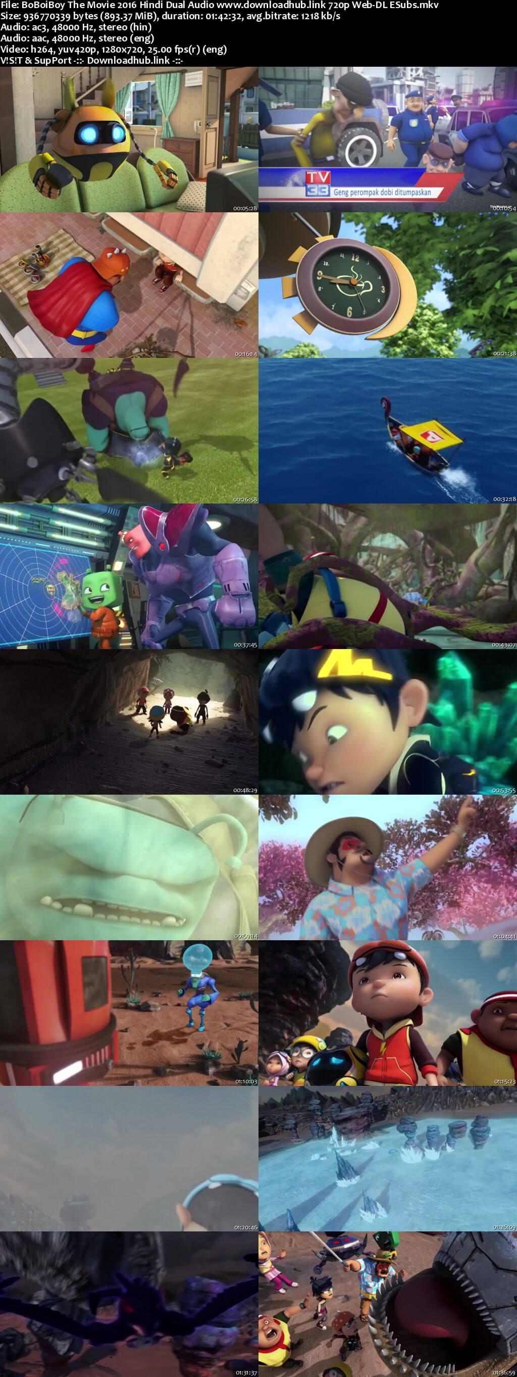 BoBoiBoy The Movie 2016 Hindi Dual Audio 720p Web-DL ESubs
