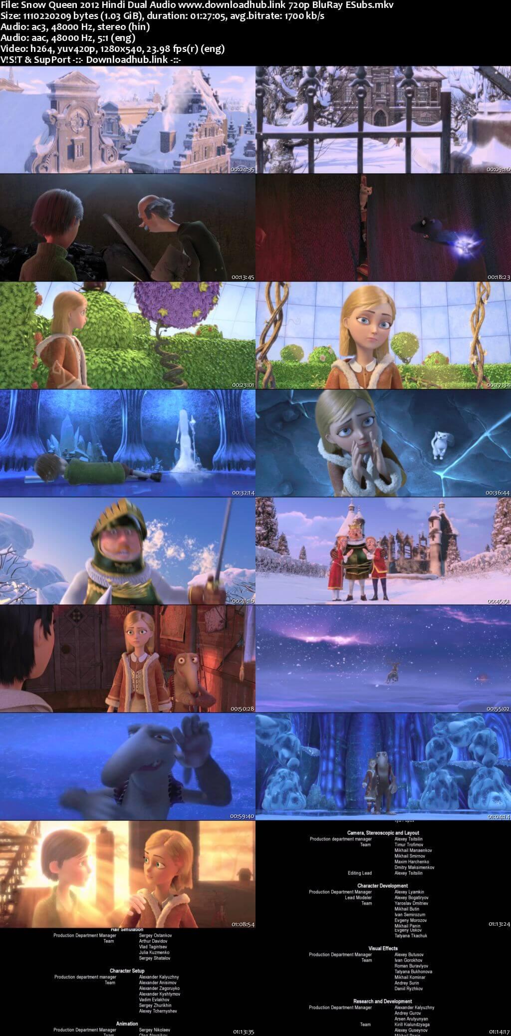 Snow Queen 2012 Hindi Dual Audio 720p BluRay ESubs