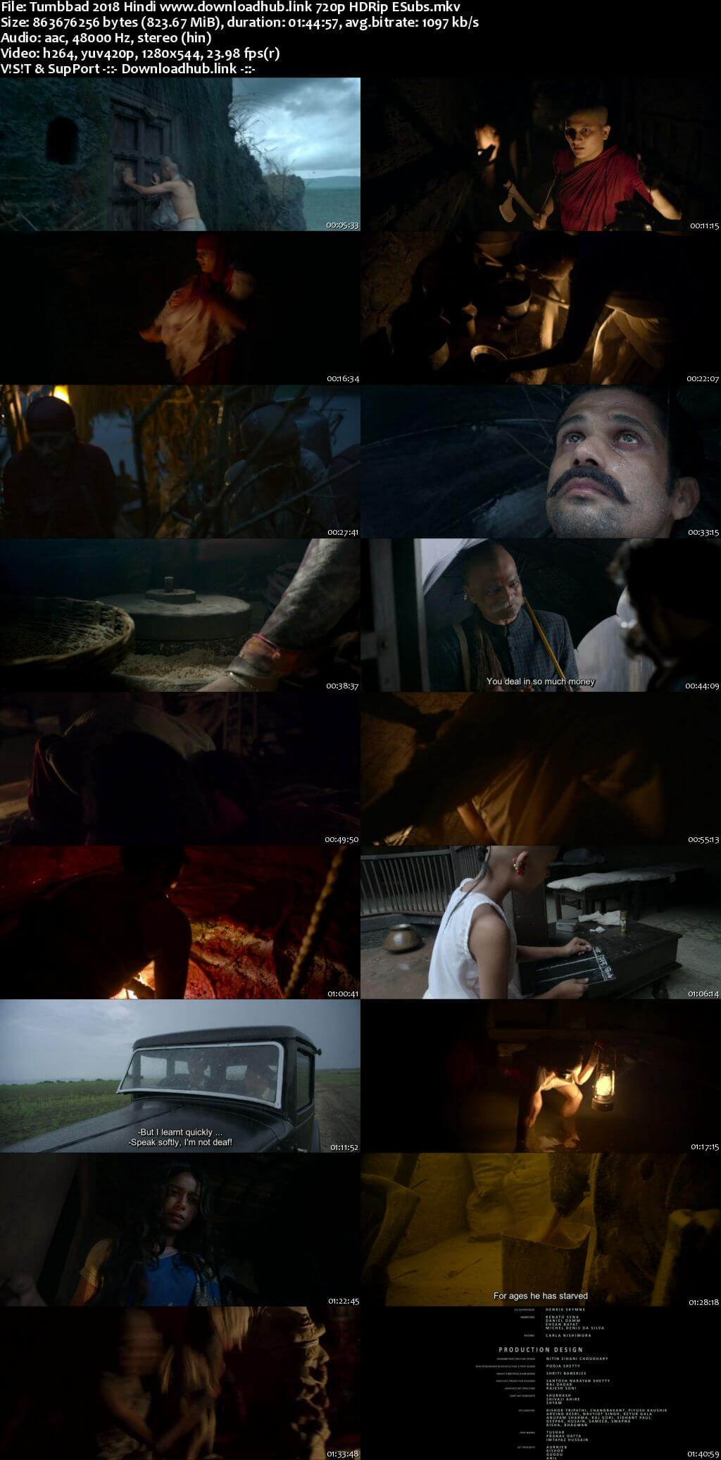 Tumbbad 2018 Hindi 720p HDRip ESubs