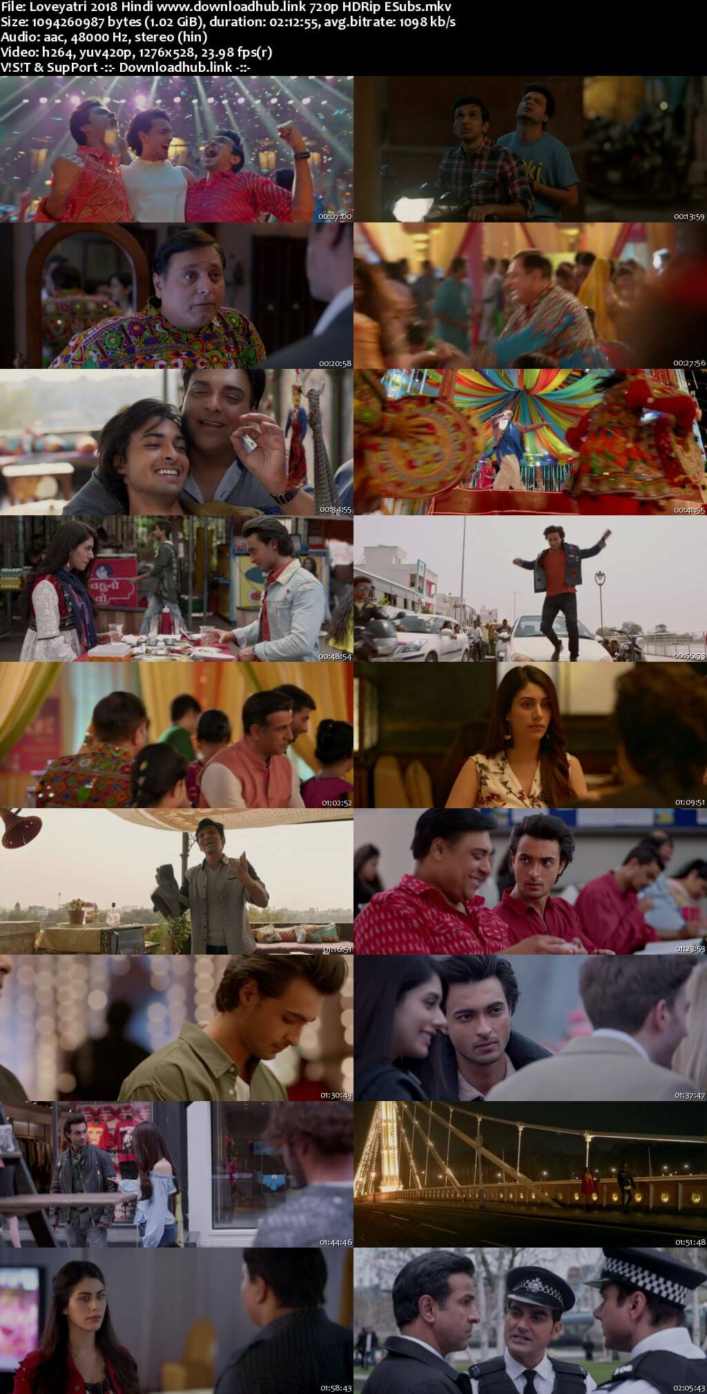 Loveyatri 2018 Hindi 720p HDRip ESubs