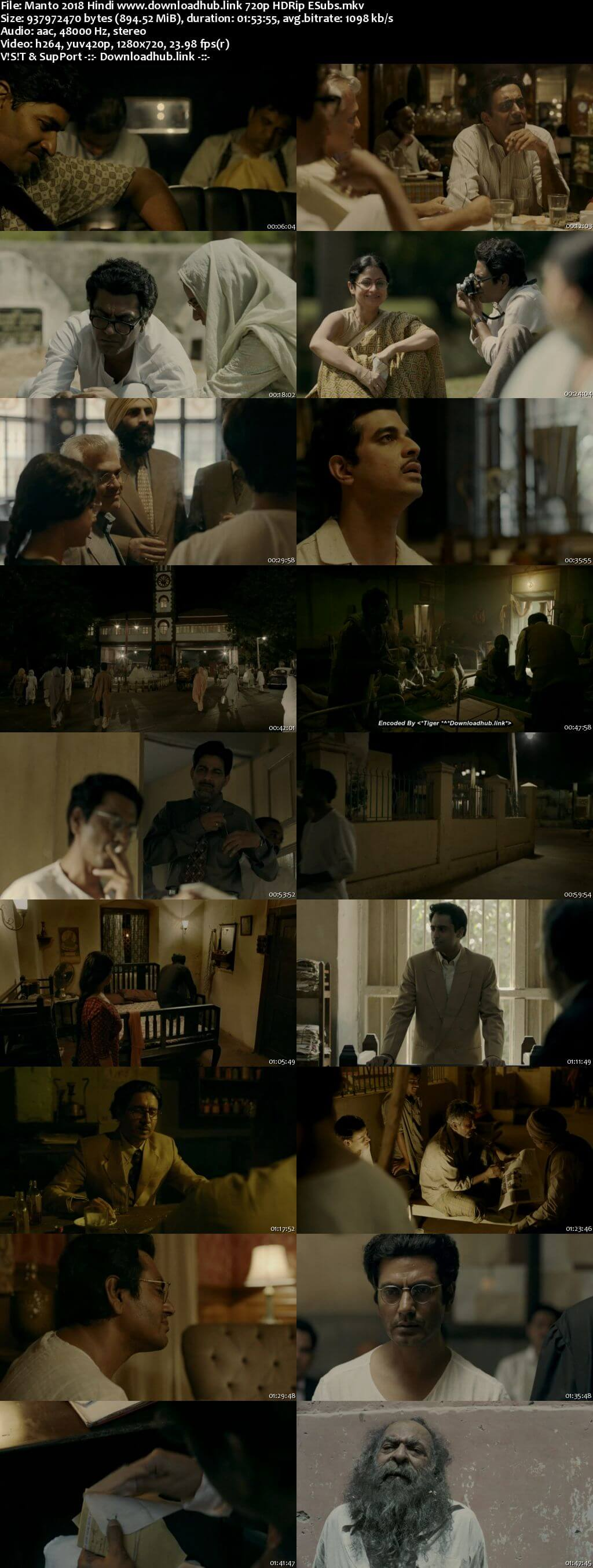 Manto 2018 Hindi 720p HDRip ESubs