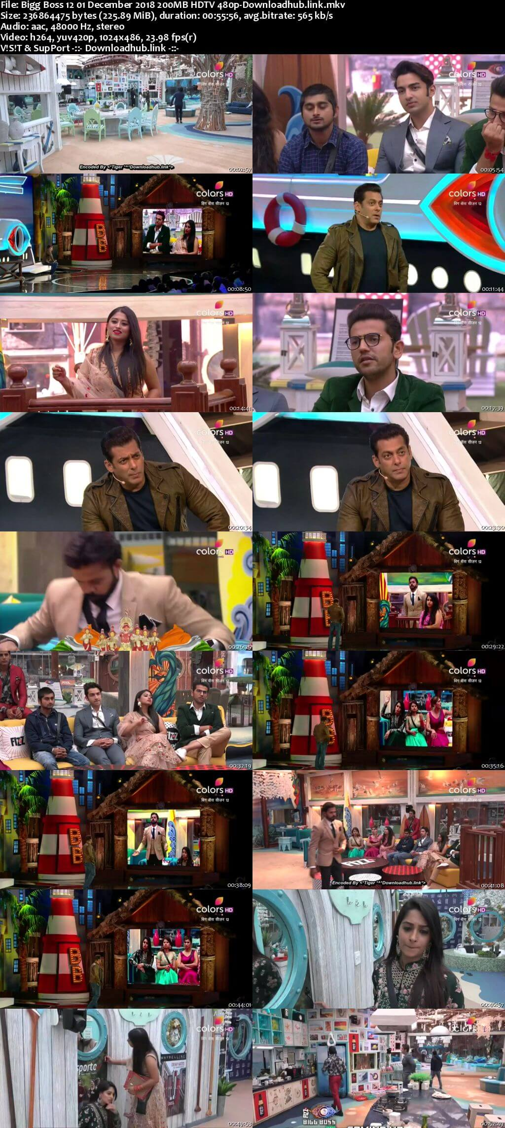 Bigg Boss 12 01 December 2018 Episode 76 HDTV 480p