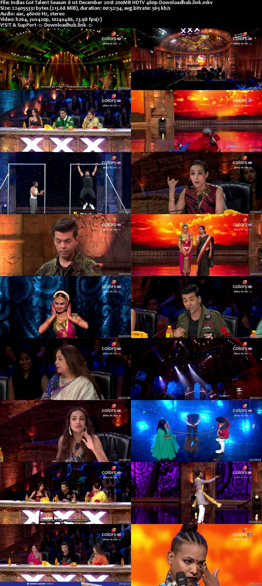 Indias Got Talent Season 8 01 December 2018 Episode 13 HDTV 480p