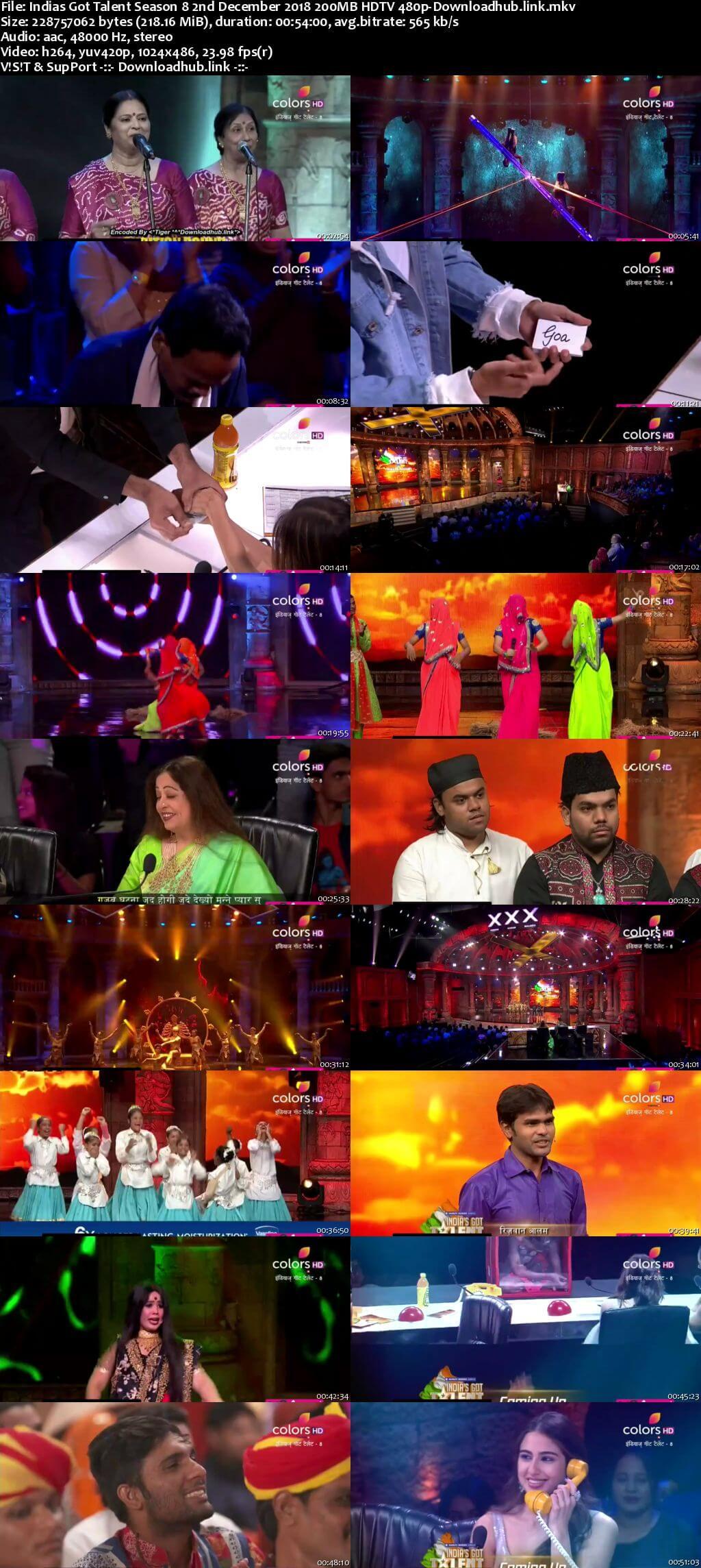 Indias Got Talent Season 8 02 December 2018 Episode 14 HDTV 480p