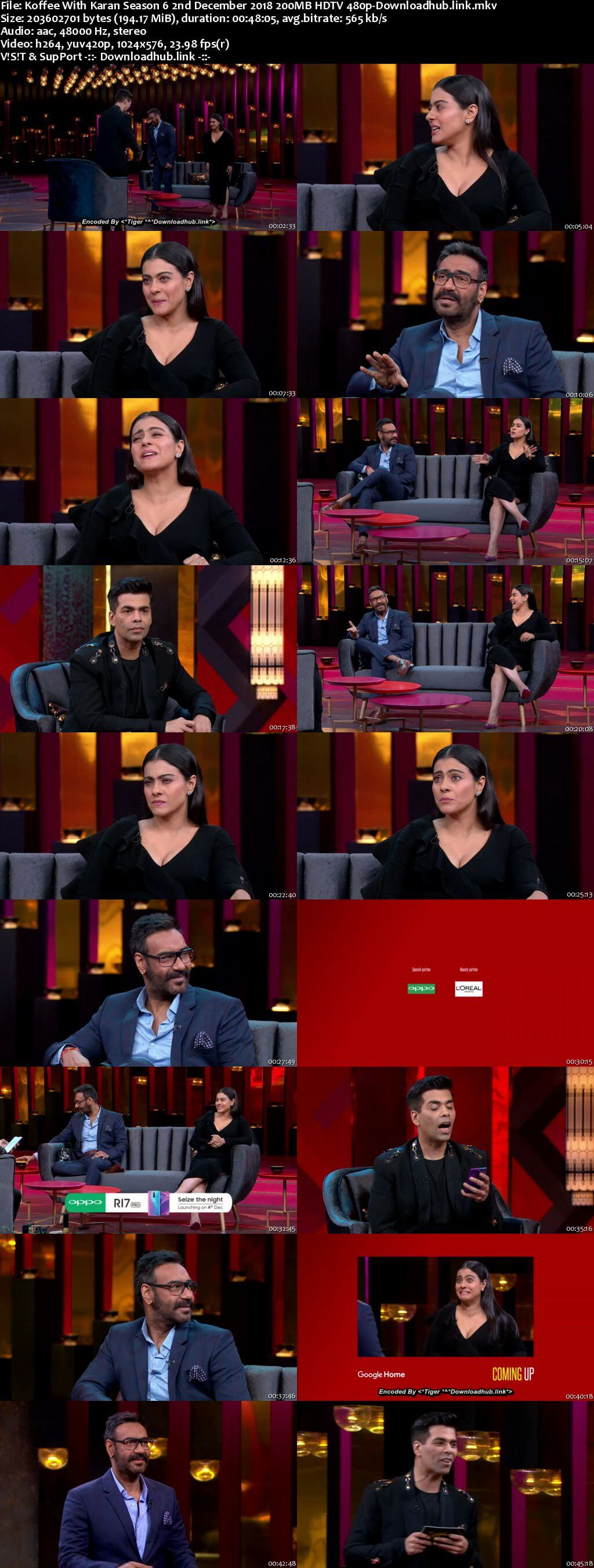 Koffee With Karan 6 02 December 2018 Episode 07 HDTV 480p