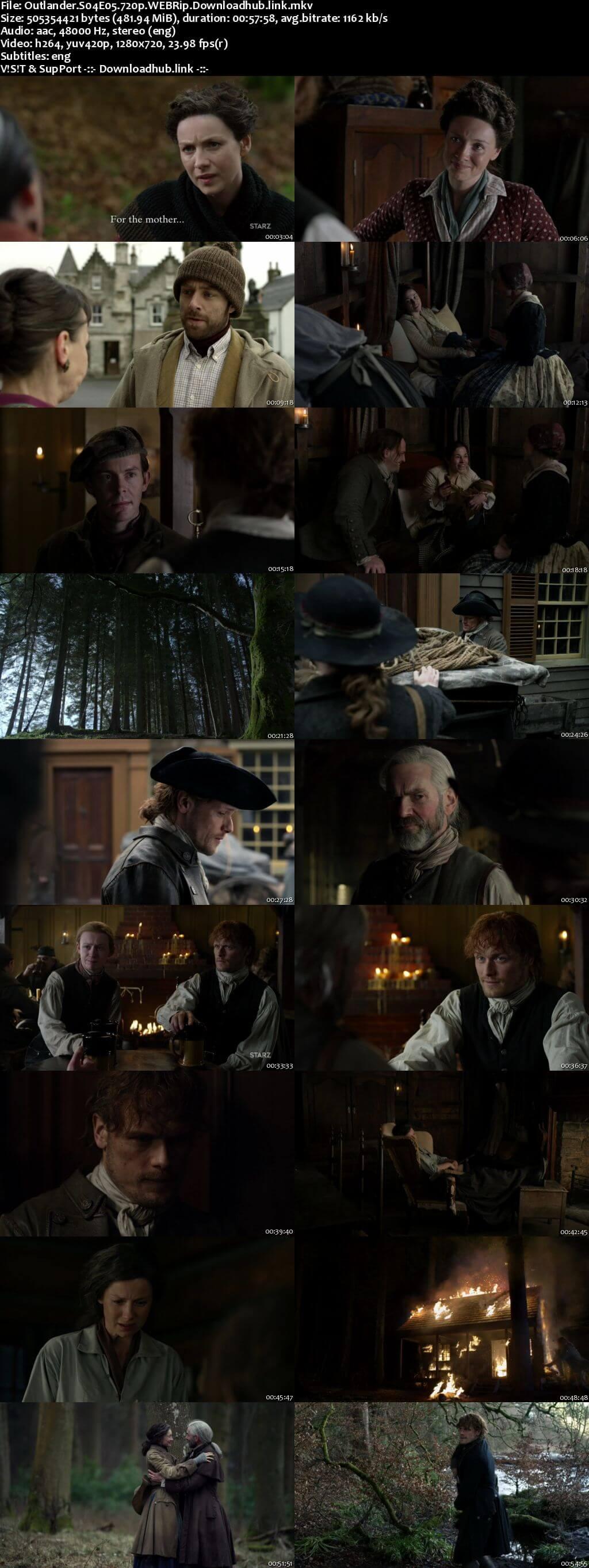 Outlander S04E05 450MB WEBRip 720p ESubs