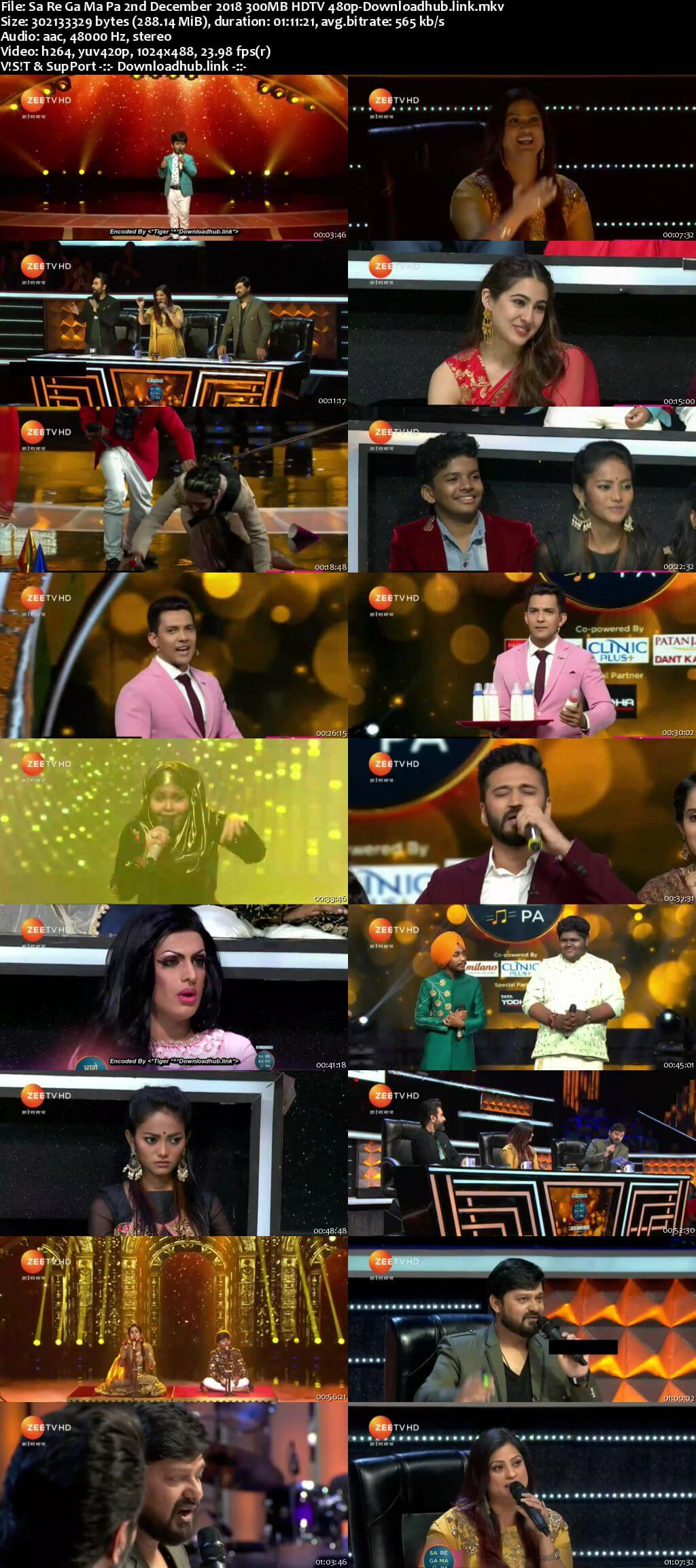 Sa Re Ga Ma Pa 02 December 2018 Episode 15 HDTV 480p
