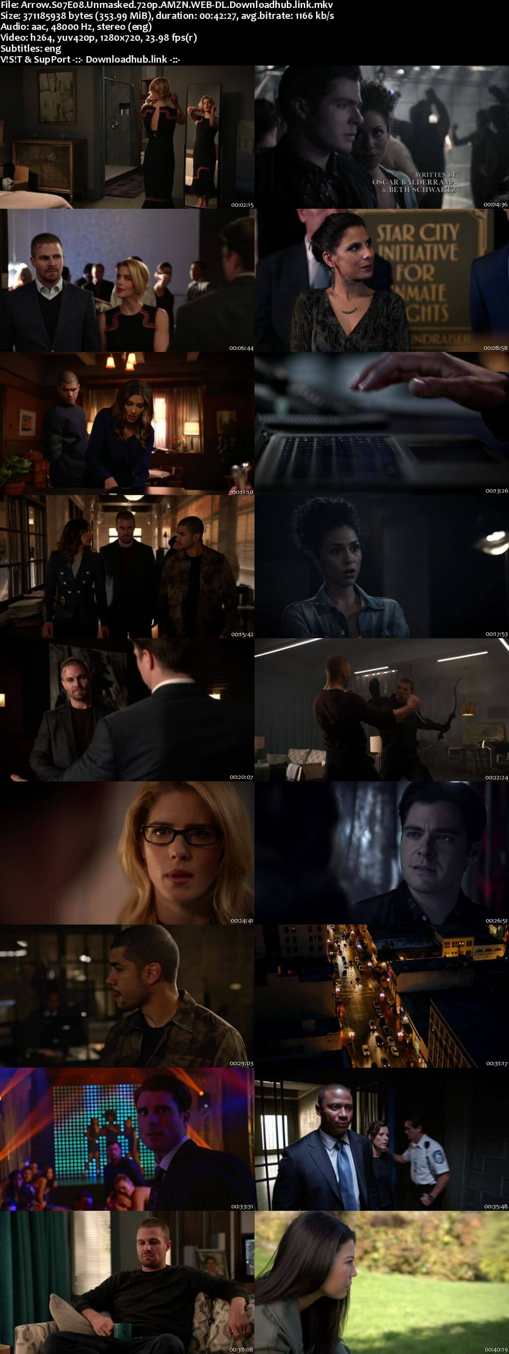 Arrow S07E08 350MB AMZN Web-DL 720p ESubs