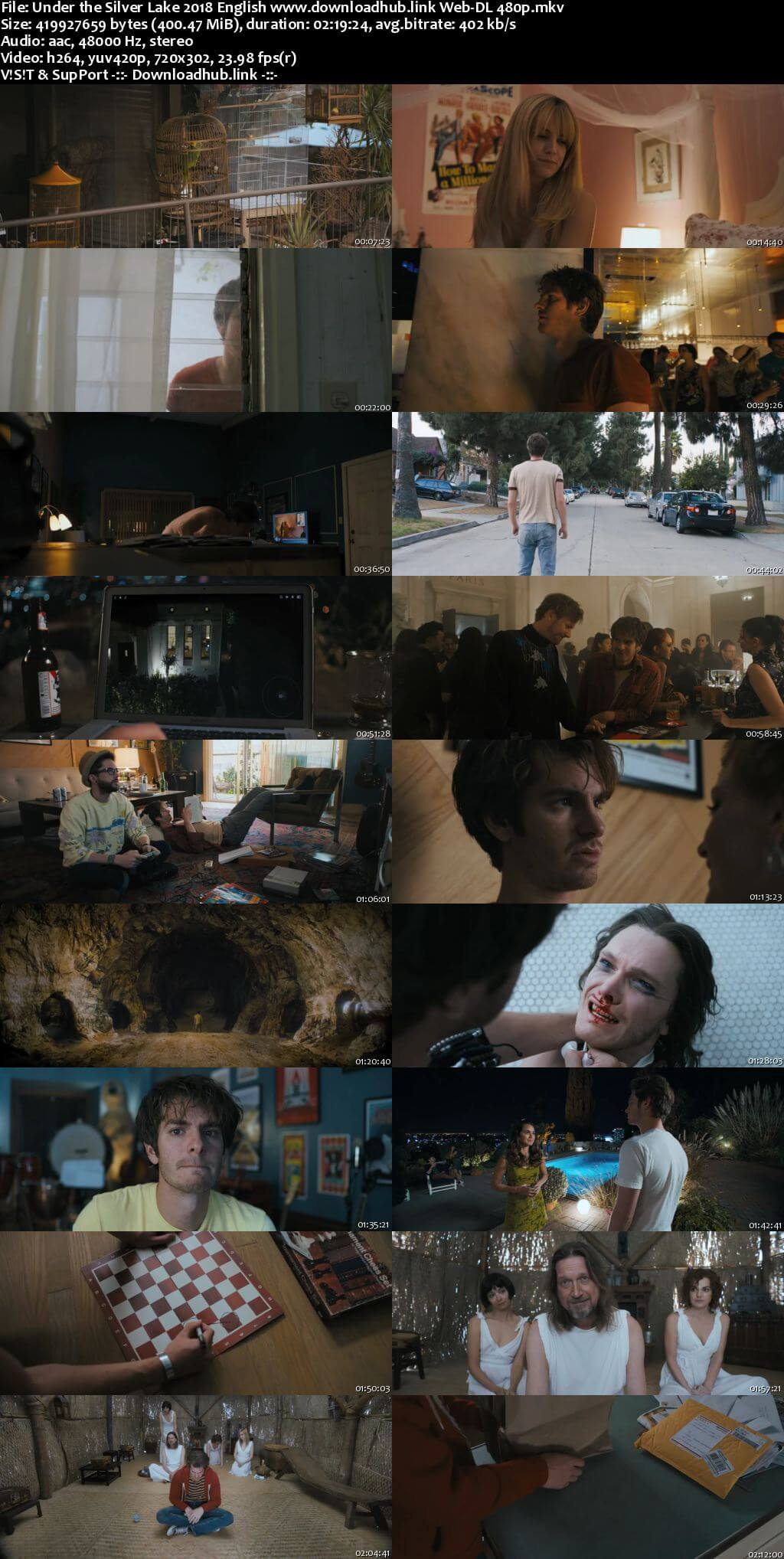 Under the Silver Lake 2018 English 400MB Web-DL 480p