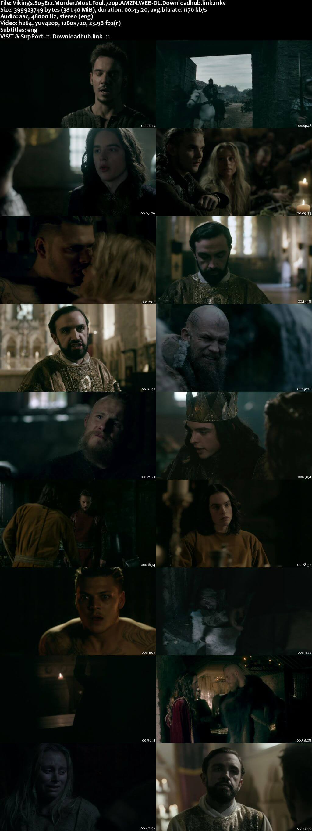 Vikings S05E12 350MB Web-DL 720p ESubs