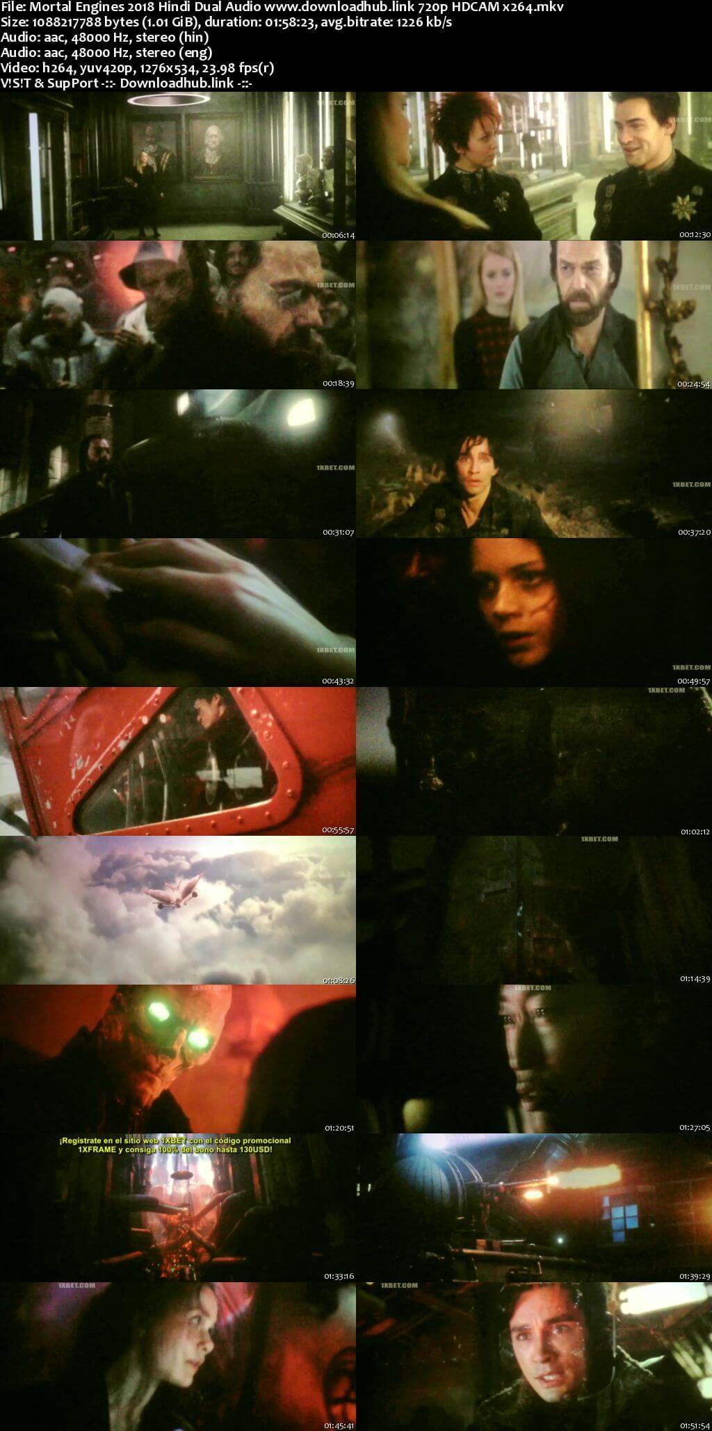 Mortal Engines 2018 Hindi Dual Audio 720p HDCAM x264