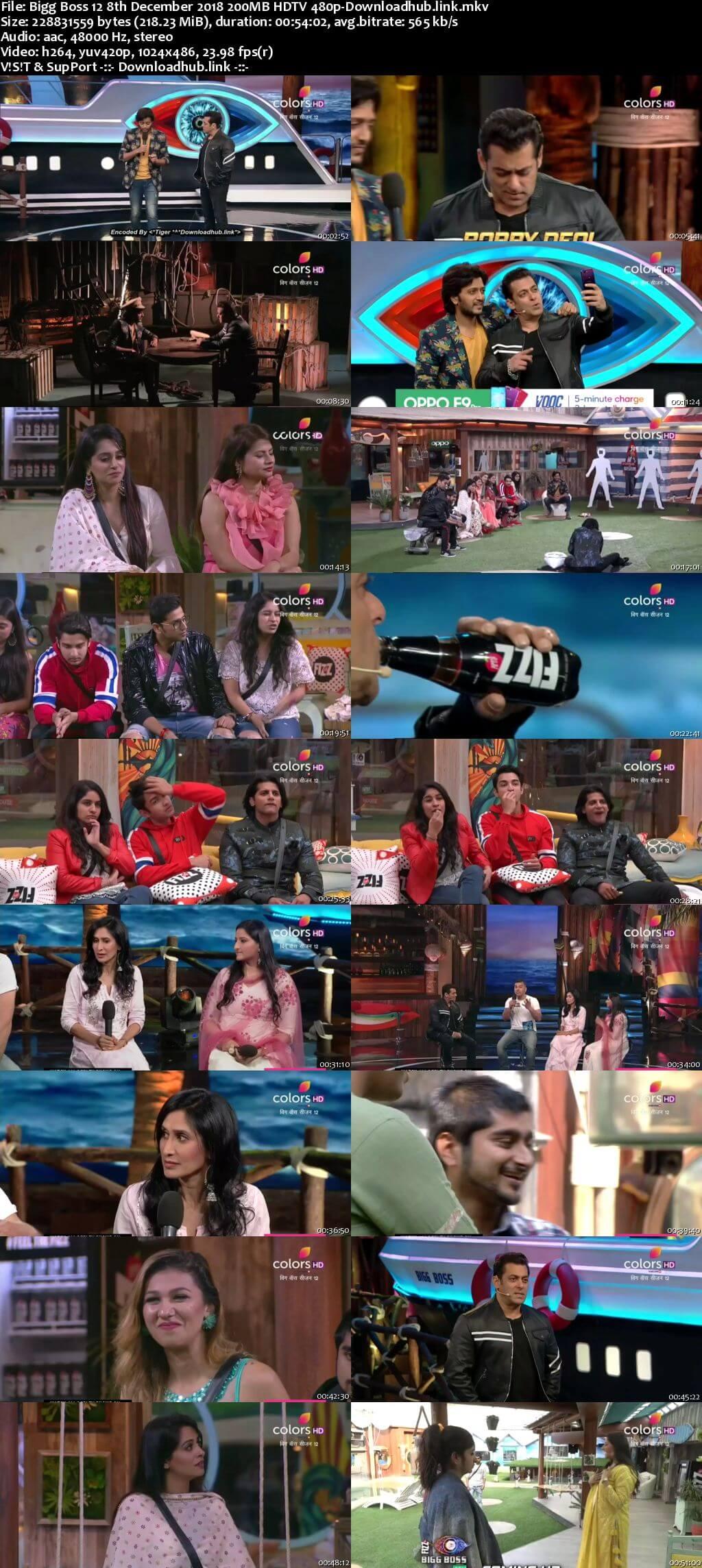 Bigg Boss 12 08 December 2018 Episode 83 HDTV 480p