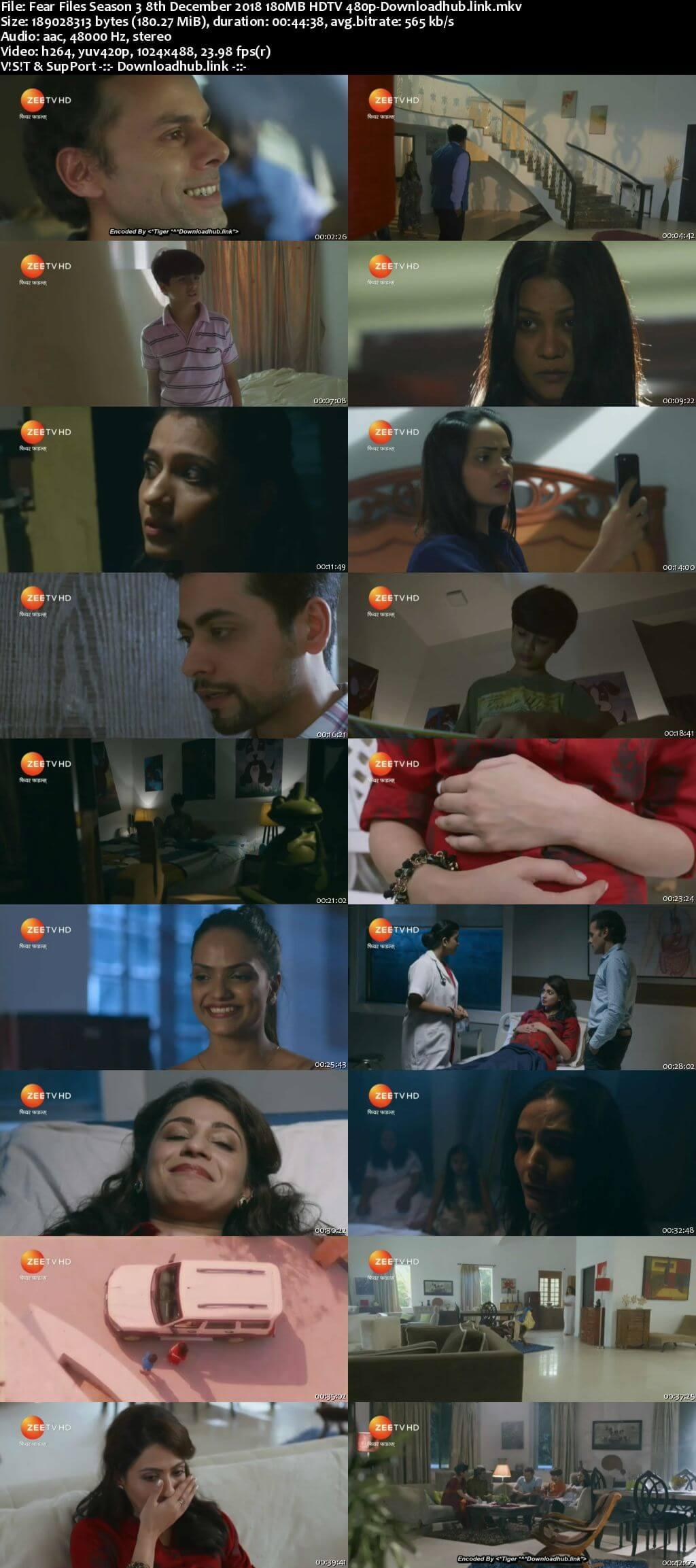 Fear Files Season 3 8th December 2018 180MB HDTV 480p