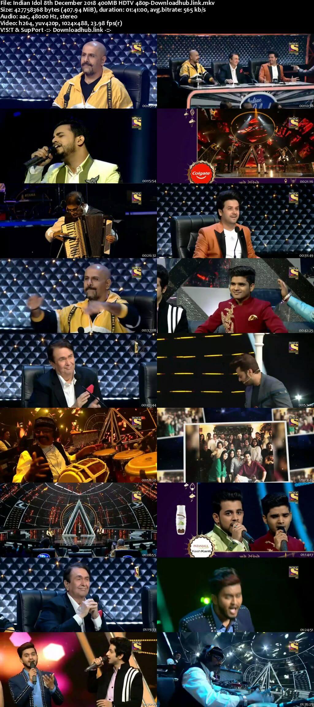 Indian Idol 08 December 2018 Episode 45 HDTV 480p