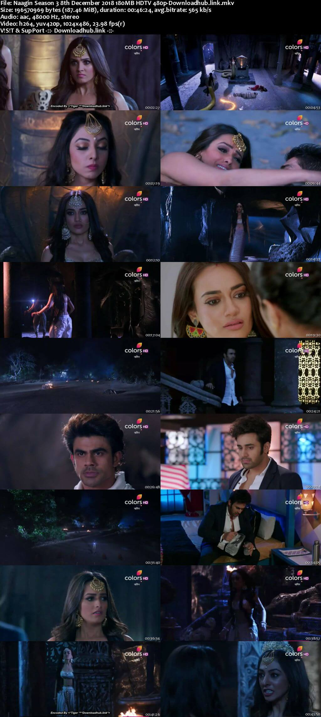 Naagin Season 3 08 December 2018 Episode 53 HDTV 480p