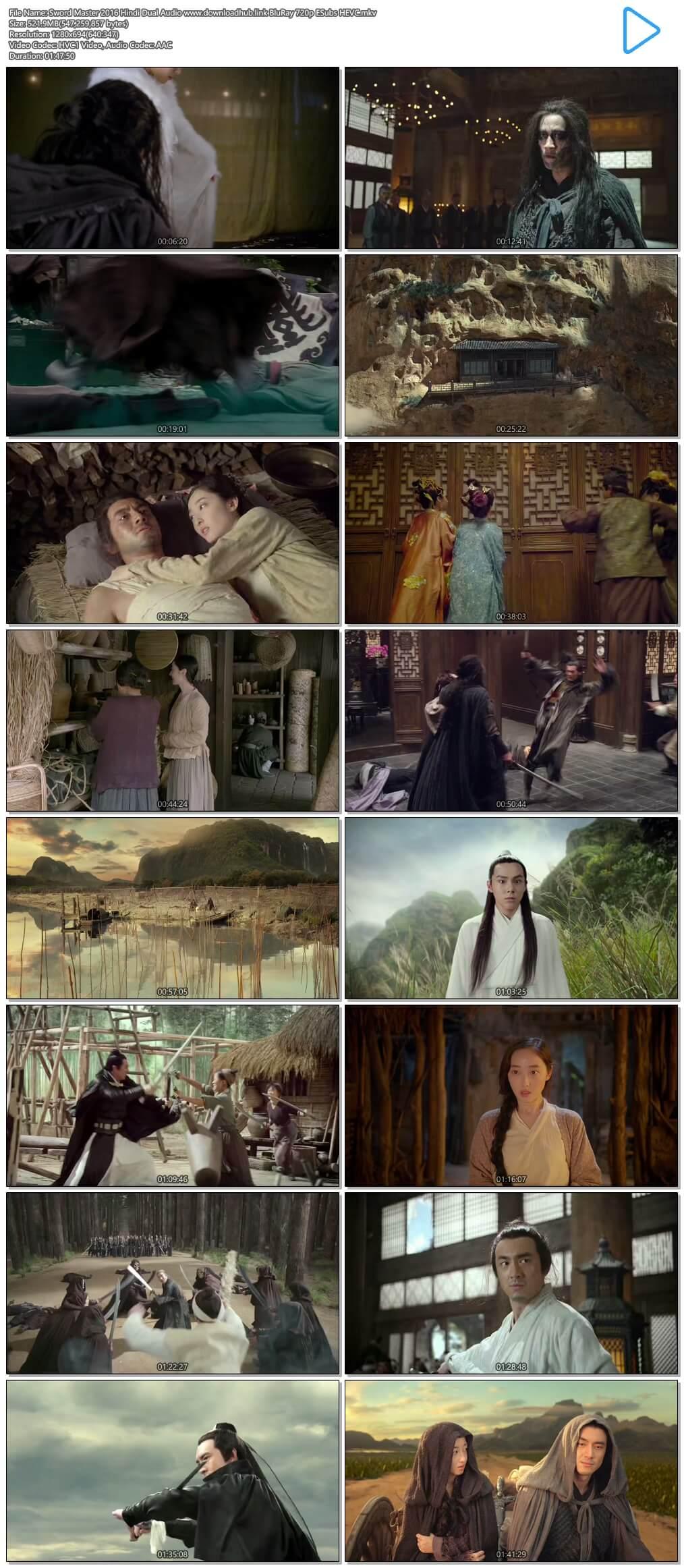 Sword Master 2016 Hindi Dual Audio 500MB BluRay 720p ESubs HEVC