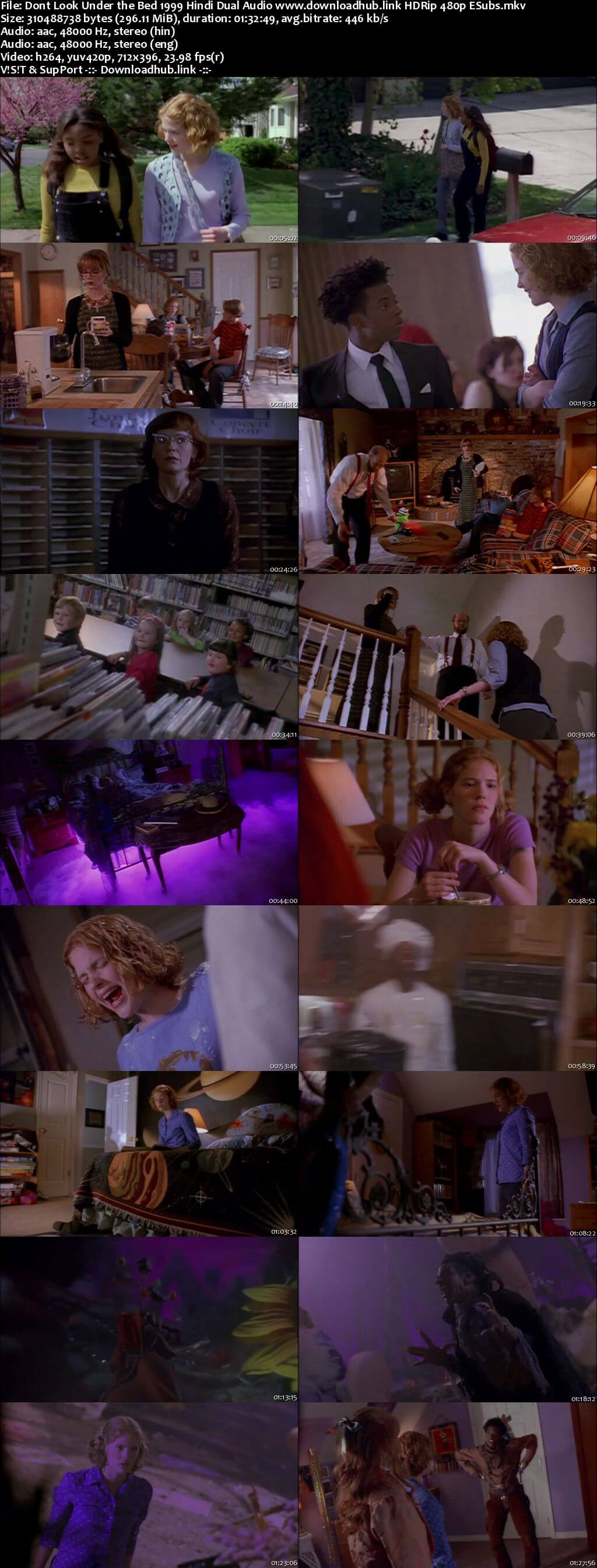 Dont Look Under the Bed 1999 Hindi Dual Audio 300MB HDRip 480p ESubs