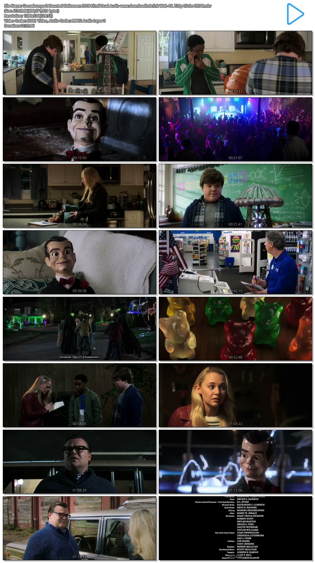 Goosebumps 2 Haunted Halloween 2018 Hindi Dual Audio 450MB Web-DL 720p ESubs HEVC
