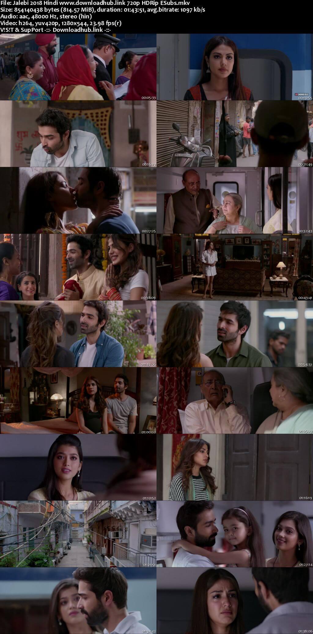 Jalebi 2018 Hindi 720p HDRip ESubs