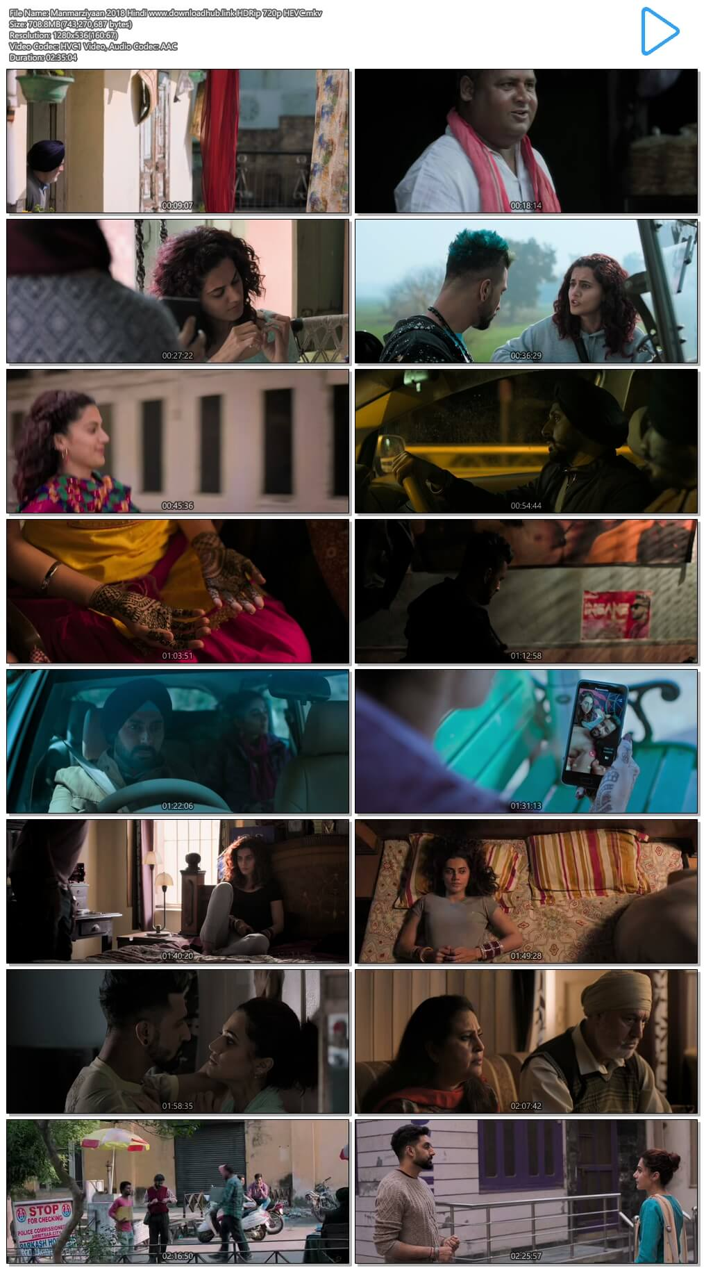 Manmarziyaan 2018 Hindi 700MB HDRip 720p HEVC