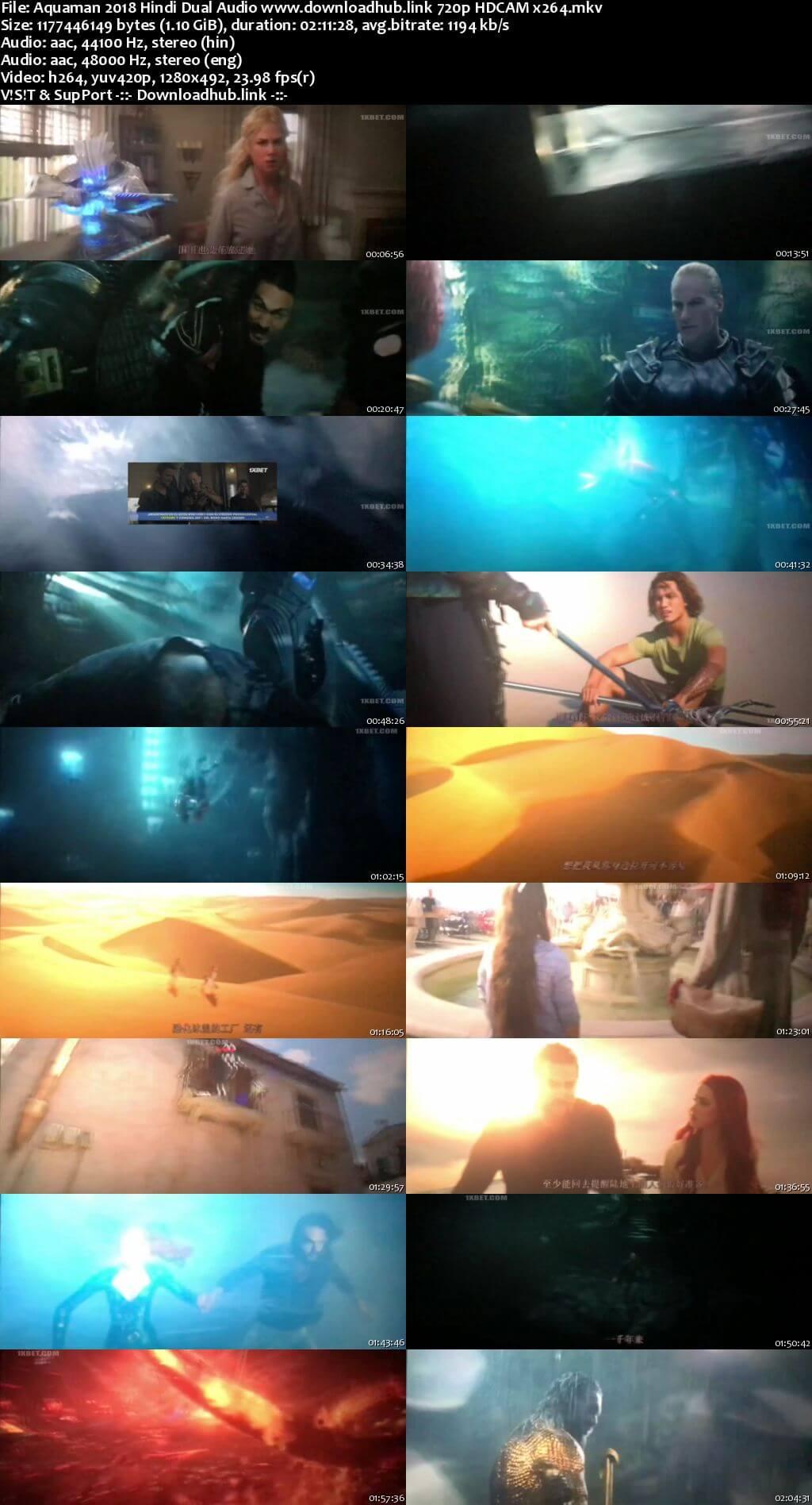 Aquaman 2018 Hindi Dual Audio 720p HDCAM x264