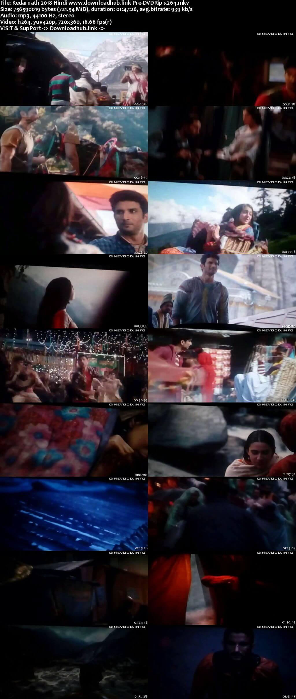 Kedarnath 2018 Hindi 700MB Pre-DVDRip x264