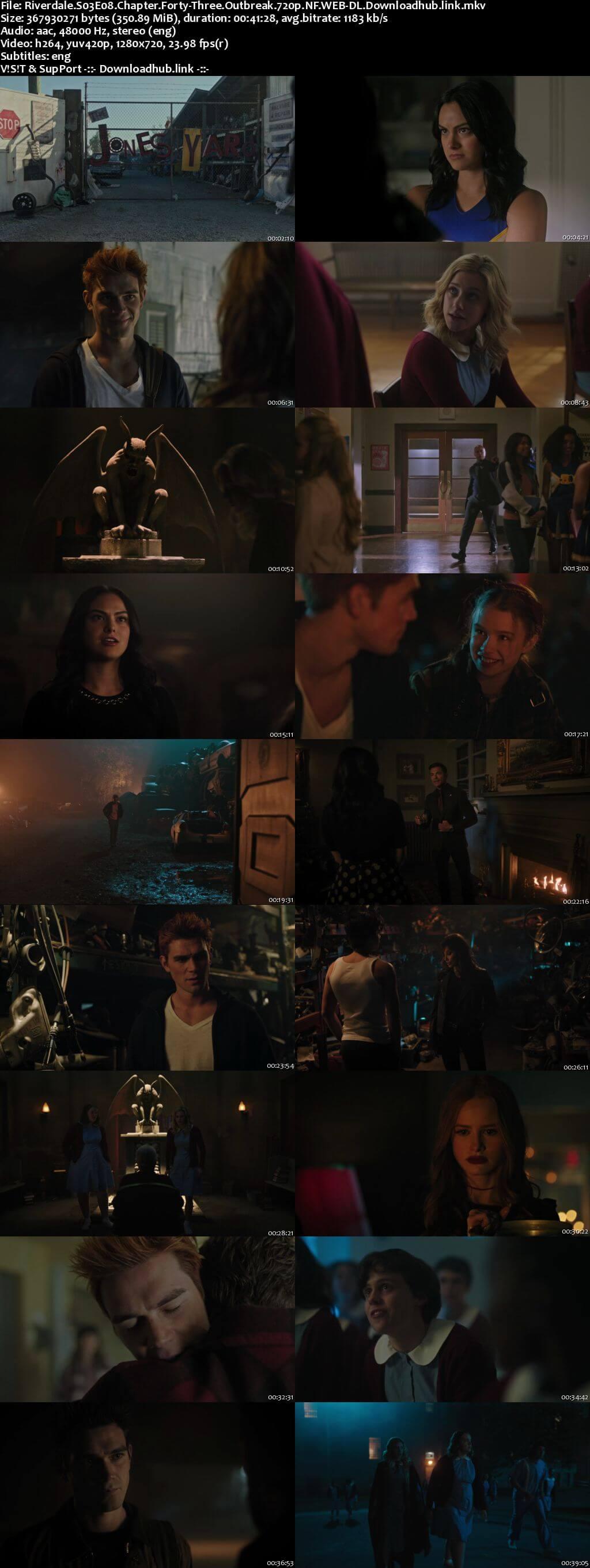 Riverdale S03E08 350MB NF WEB-DL 720p ESubs