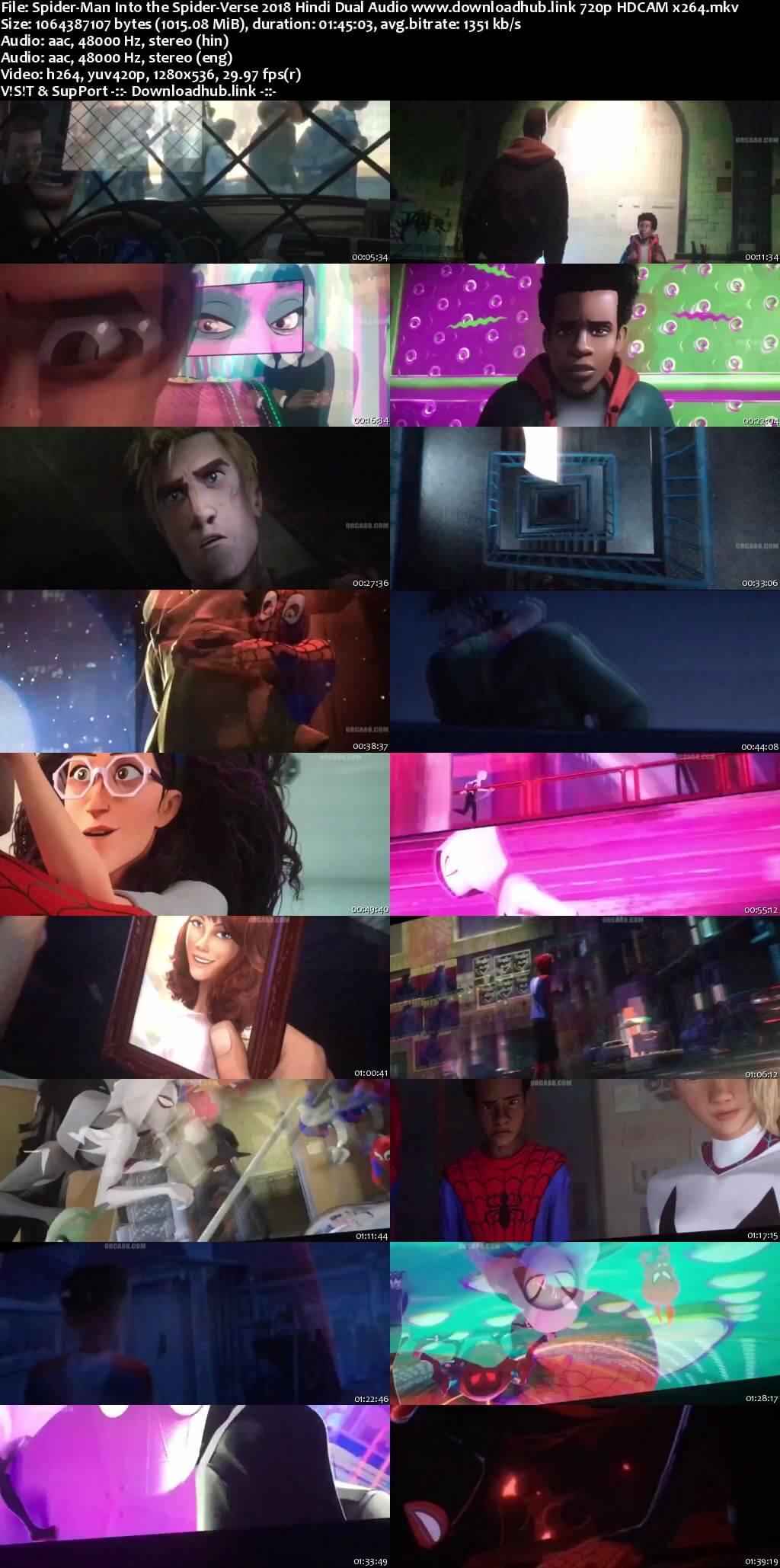 Spider-Man Into the Spider-Verse 2018 Hindi Dual Audio 720p HDCAM x264