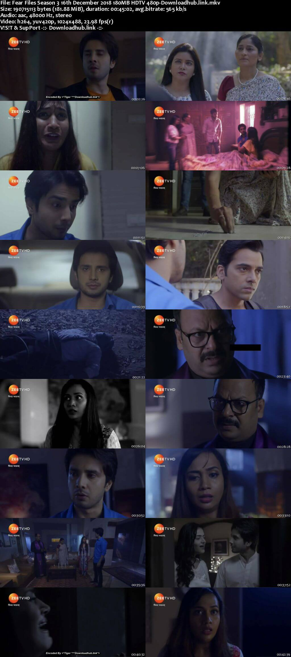 Fear Files Season 3 16th December 2018 180MB HDTV 480p