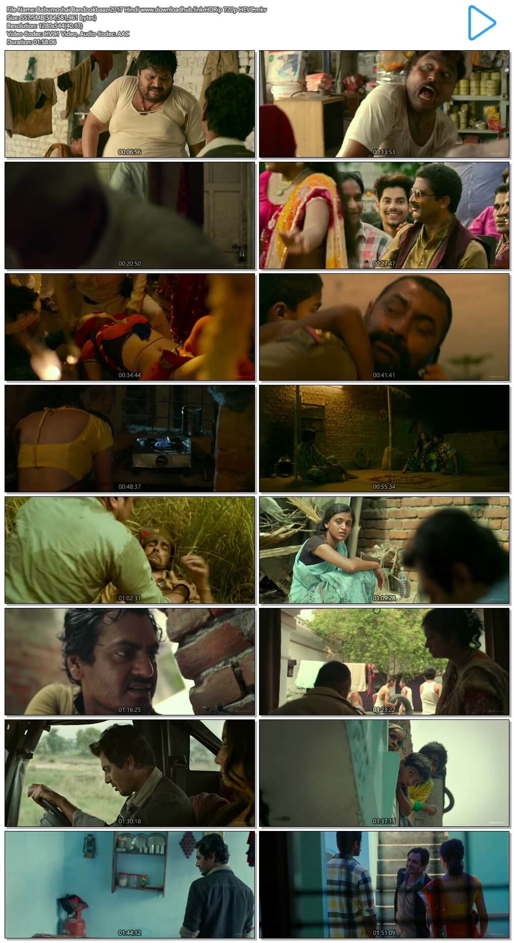 Babumoshai Bandookbaaz 2017 Hindi 550MB HDRip 720p HEVC
