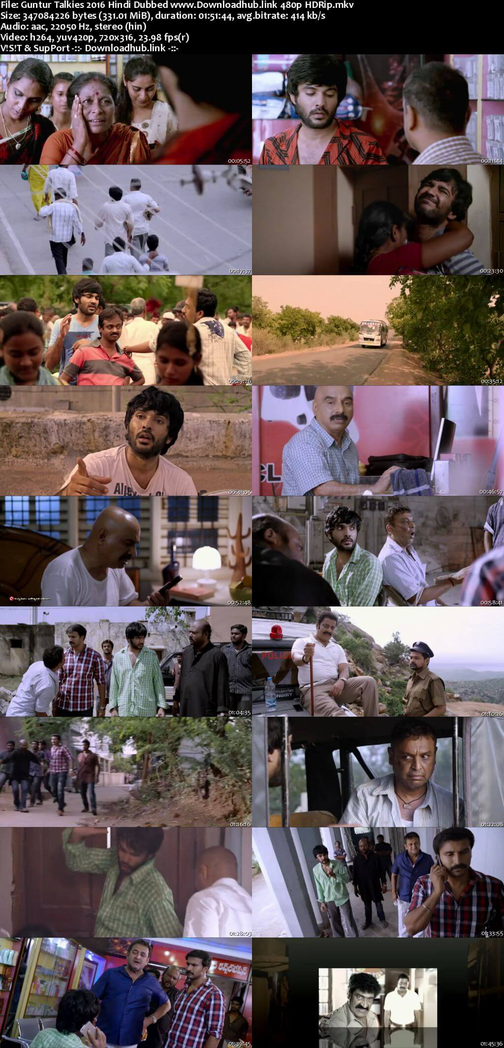 Guntur Talkies 2016 Hindi Dubbed 300MB HDRip 480p
