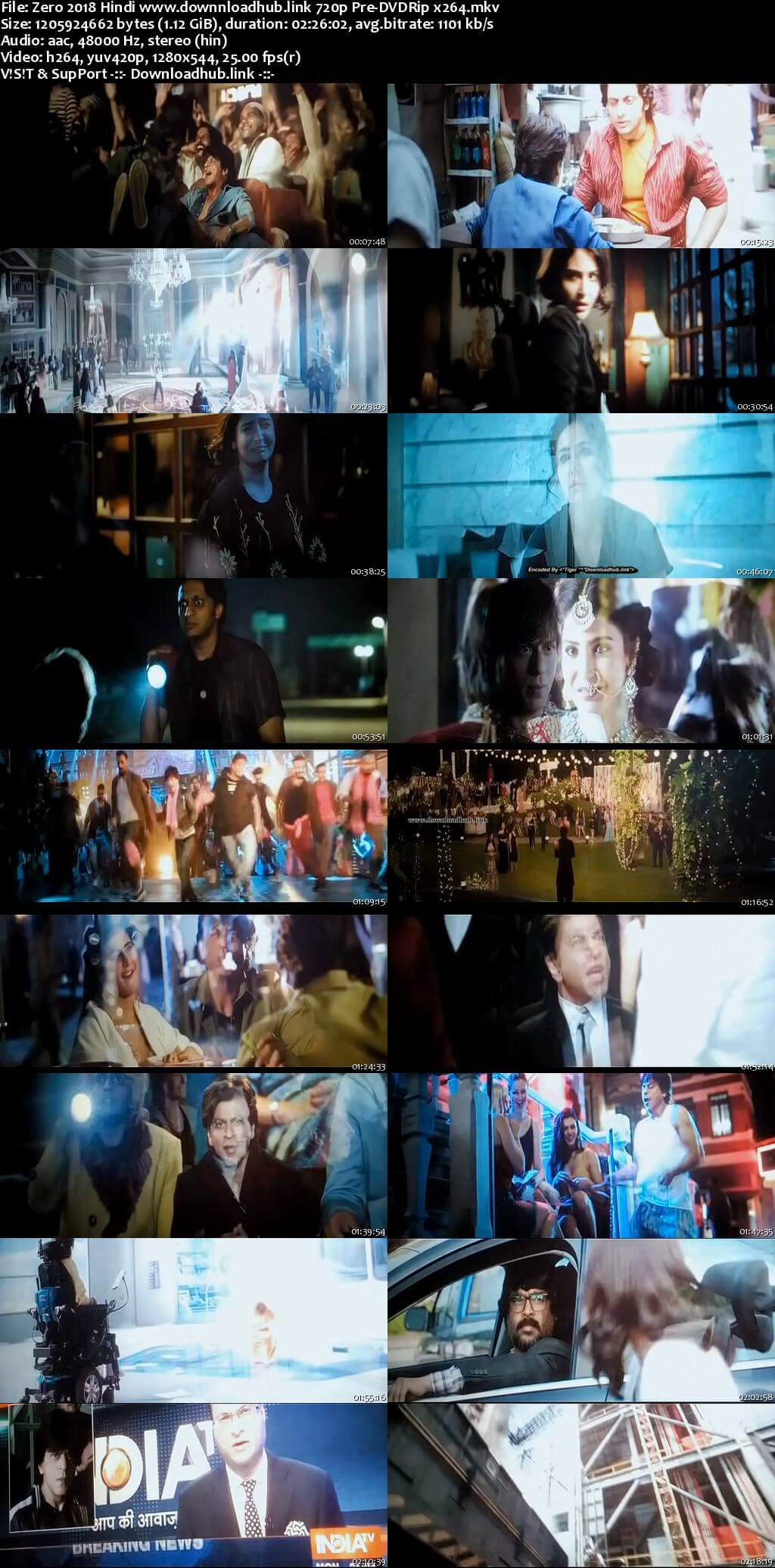 Zero 2018 Hindi 720p Pre-DVDRip x264