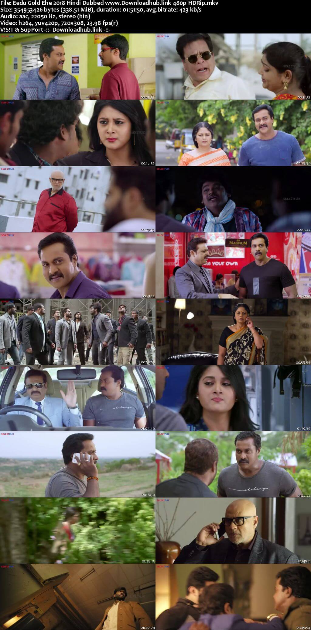 Eedu Gold Ehe 2018 Hindi Dubbed 300MB HDRip 480p