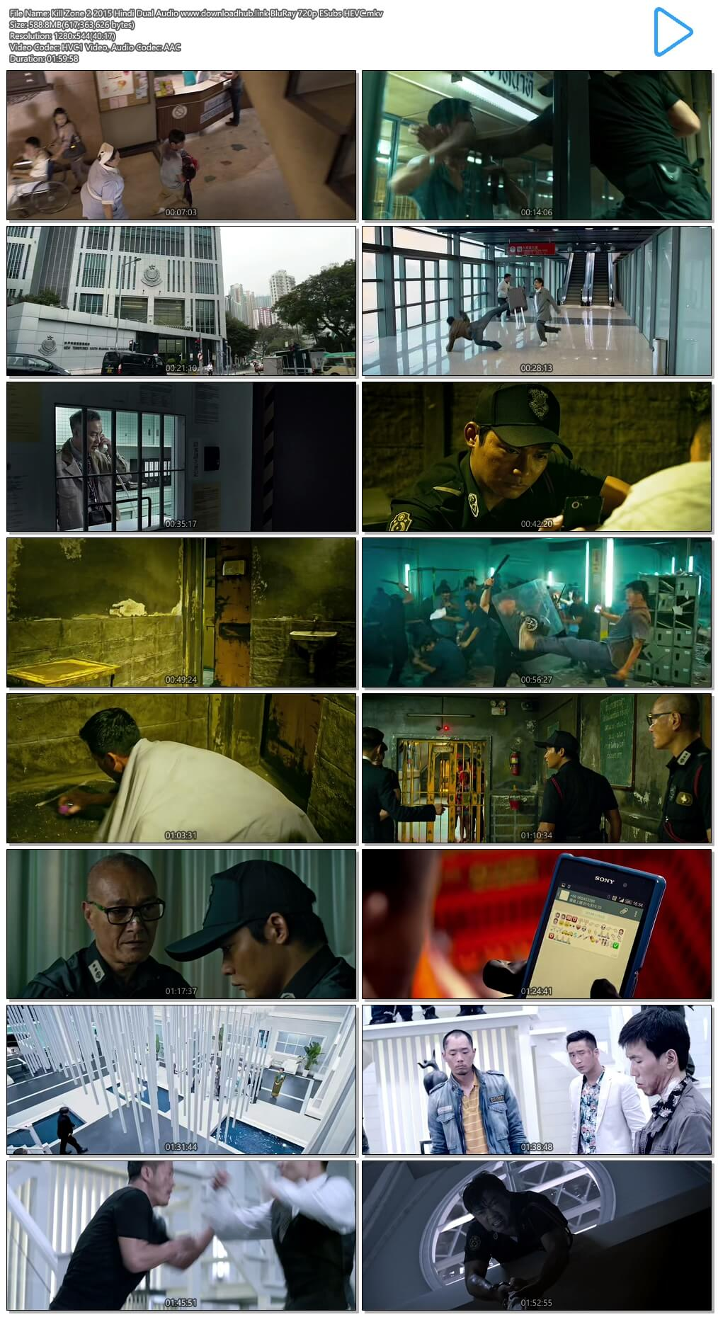 Kill Zone 2 2015 Hindi Dual Audio 600MB BluRay 720p ESubs HEVC