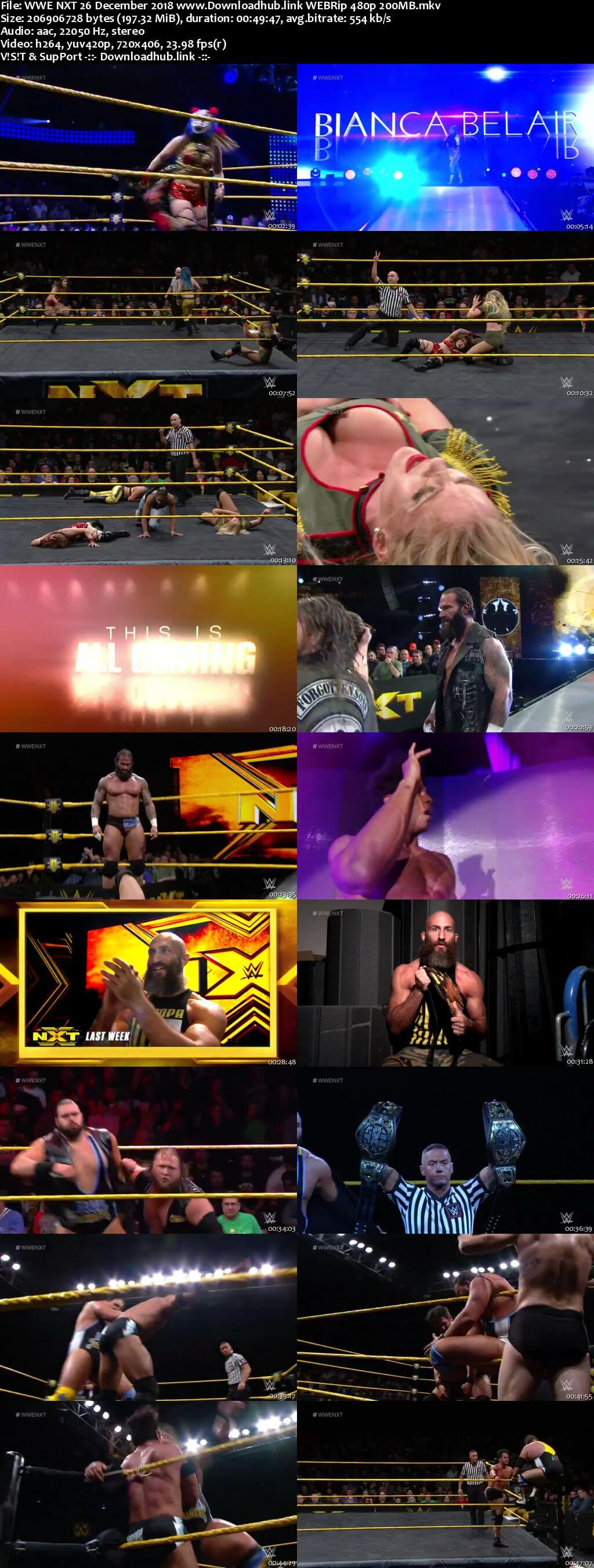 WWE NXT 26th December 2018 200MB HDTV 480p