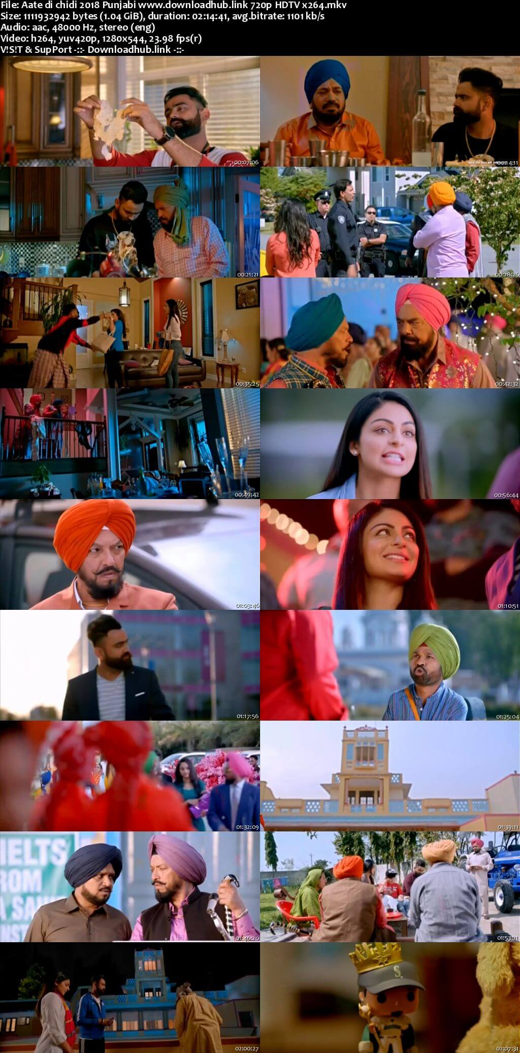 Aate di chidi 2018 Punjabi 720p HDTV x264