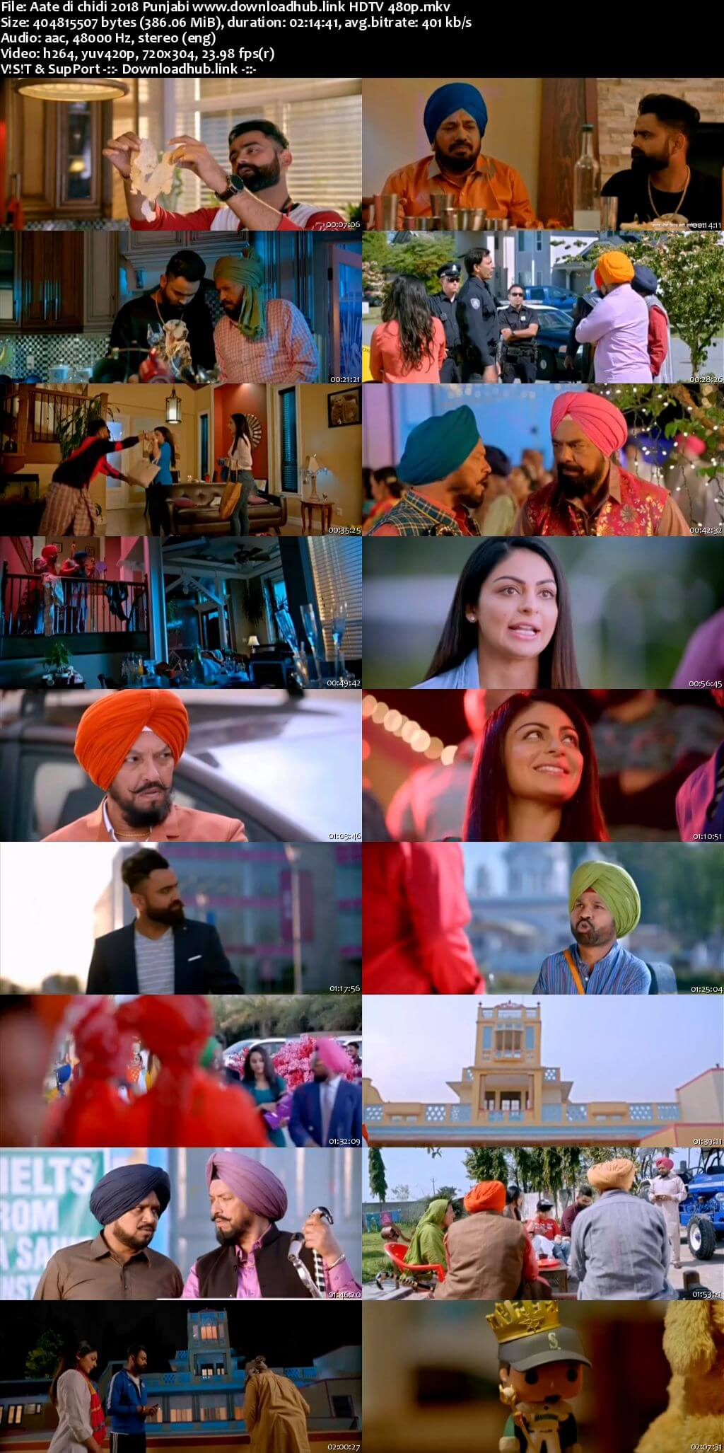 Aate di chidi 2018 Punjabi 350MB HDTV 480p