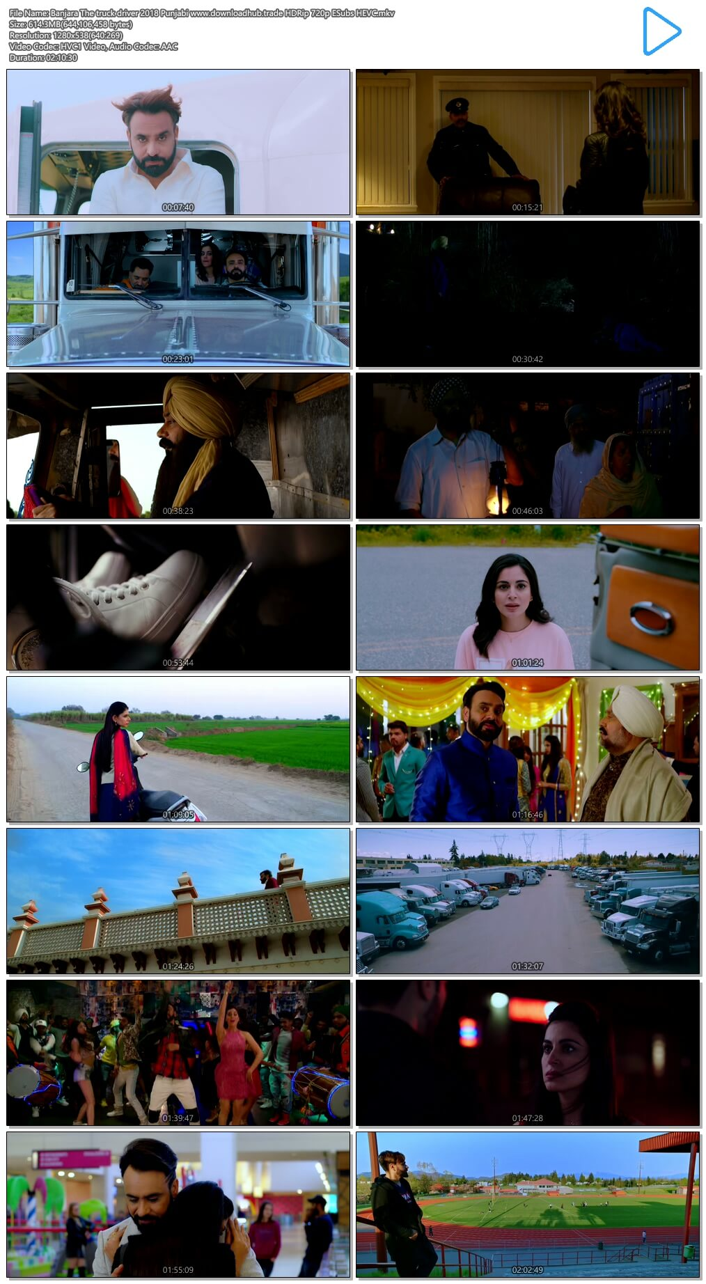 Banjara The truck driver 2018 Punjabi 600MB HDRip 720p ESubs HEVC