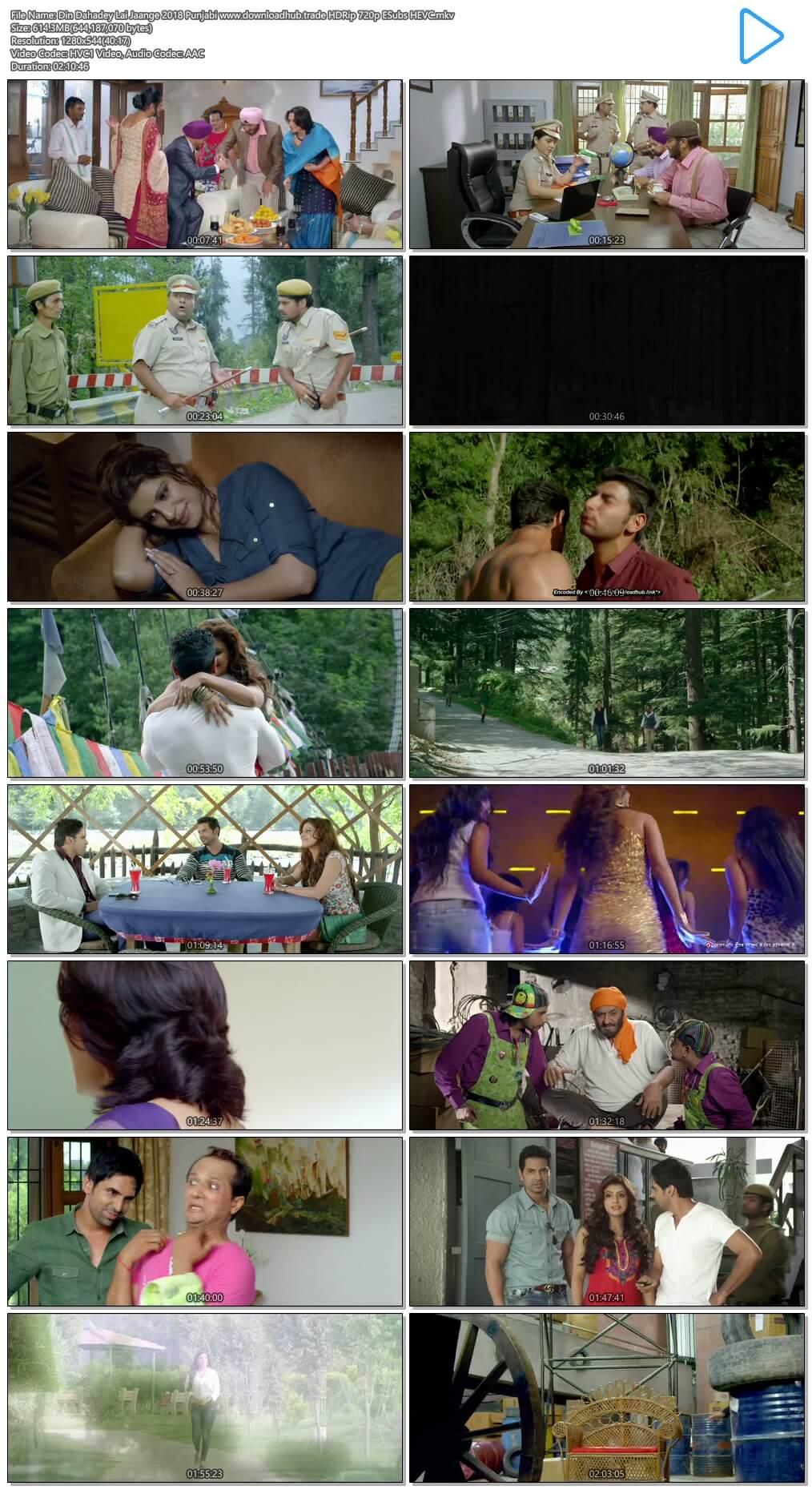 Din Dahadey Lai Jaange 2018 Punjabi 600MB HDRip 720p ESubs HEVC