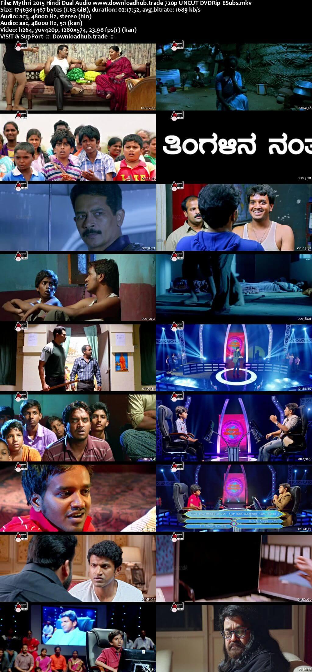 Mythri 2015 Hindi Dual Audio 720p UNCUT DVDRip ESubs