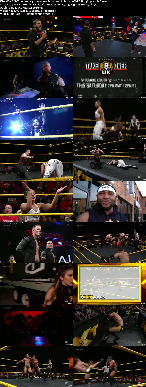 WWE NXT 9th January 2019 200MB HDTV 480p