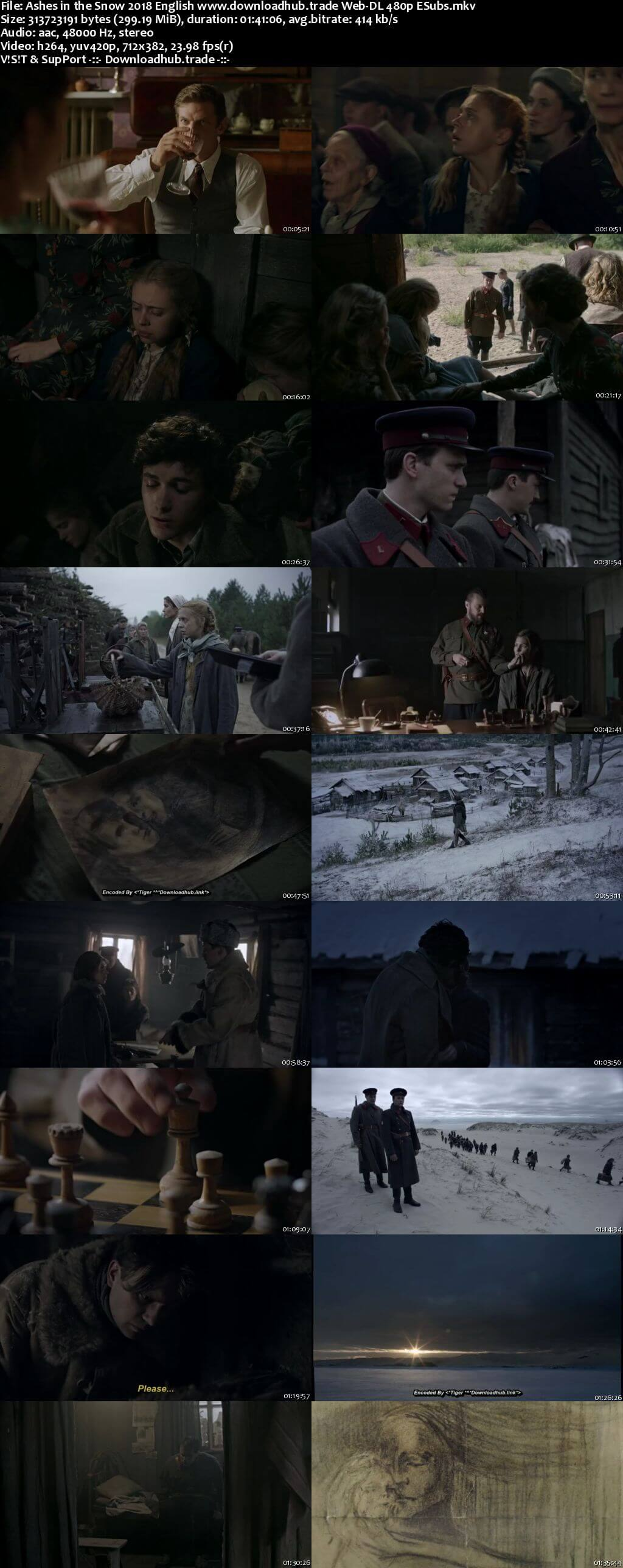 Ashes in the Snow 2018 English 300MB Web-DL 480p ESubs